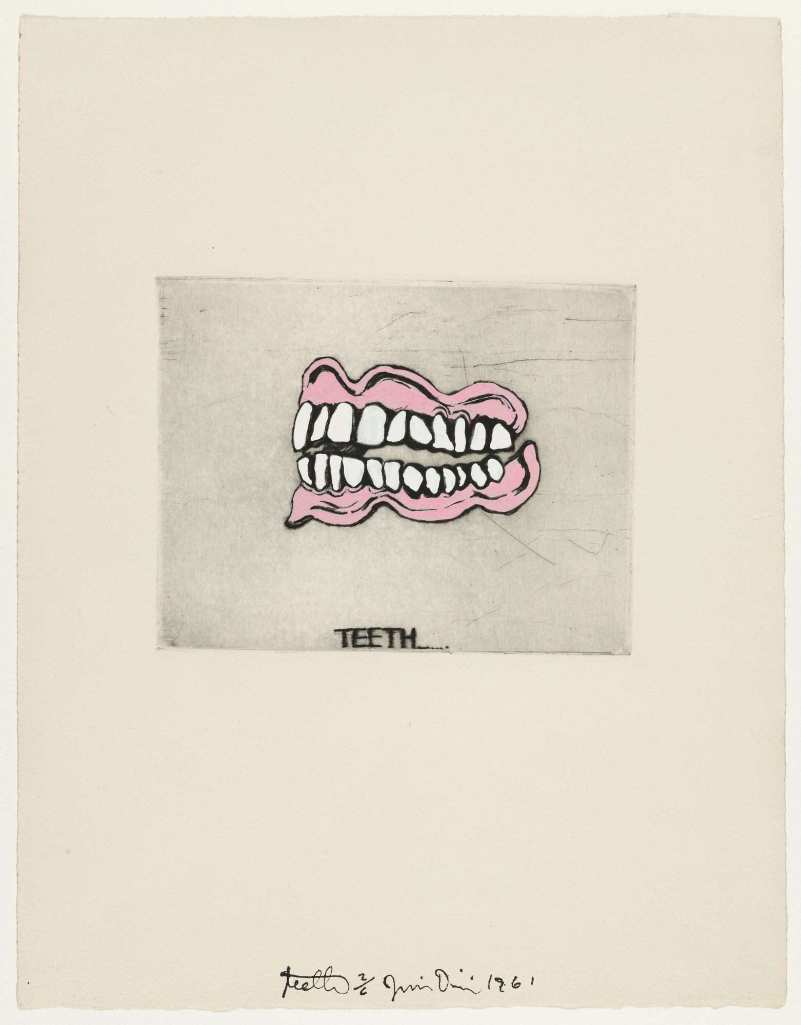 Jim Dine. Teeth fromThese Are Ten Useful Objects Which No One Should Be Without When Traveling. 1961