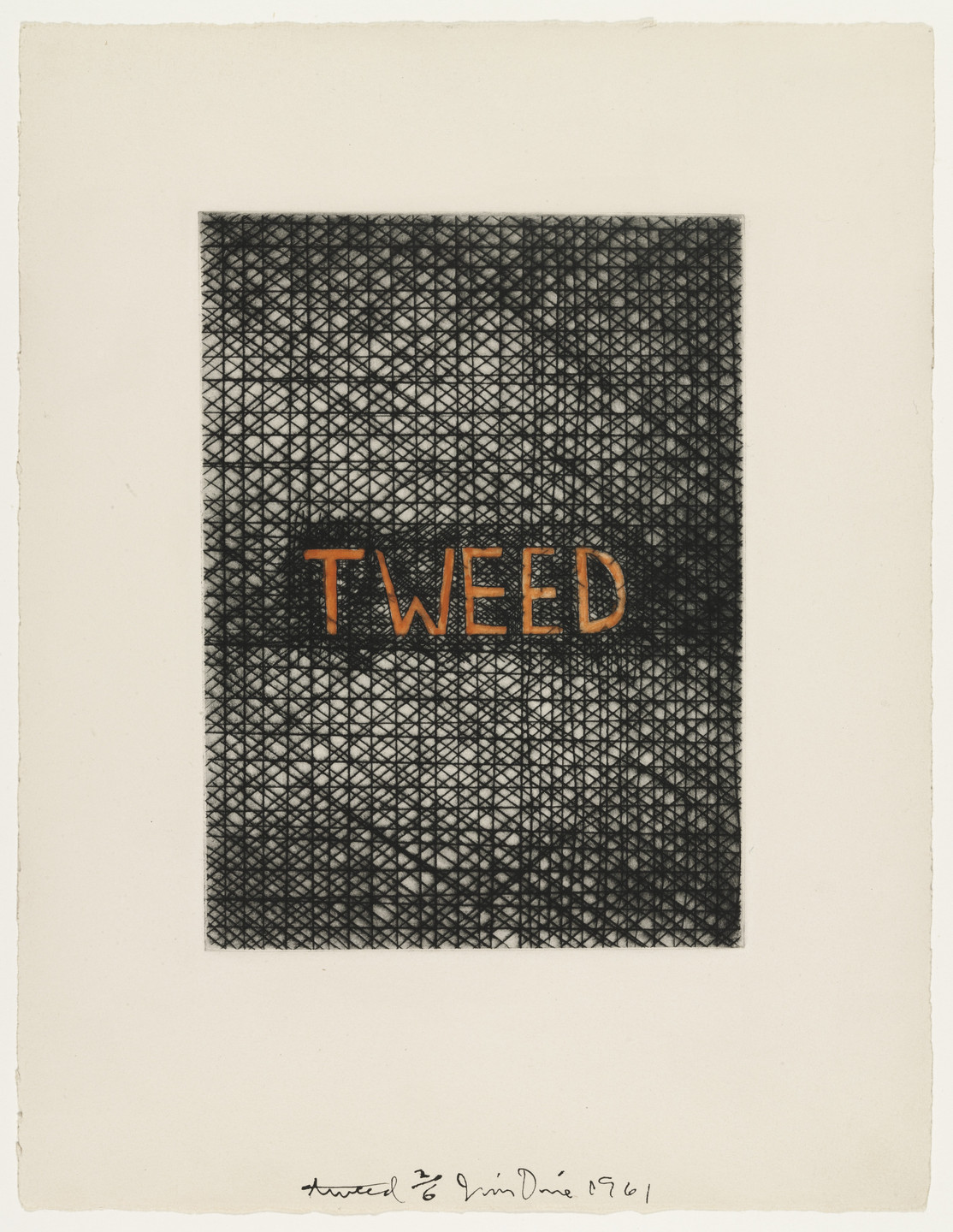 Jim Dine. Tweed fromThese Are Ten Useful Objects Which No One Should Be Without When Traveling. 1961