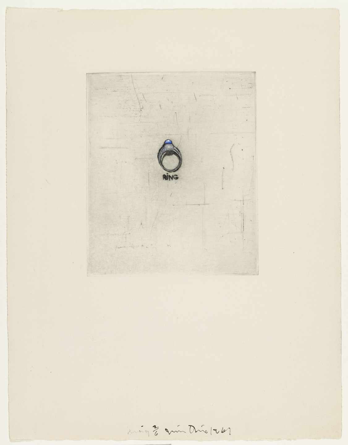 Jim Dine. Ring fromThese Are Ten Useful Objects Which No One Should Be Without When Traveling. 1961