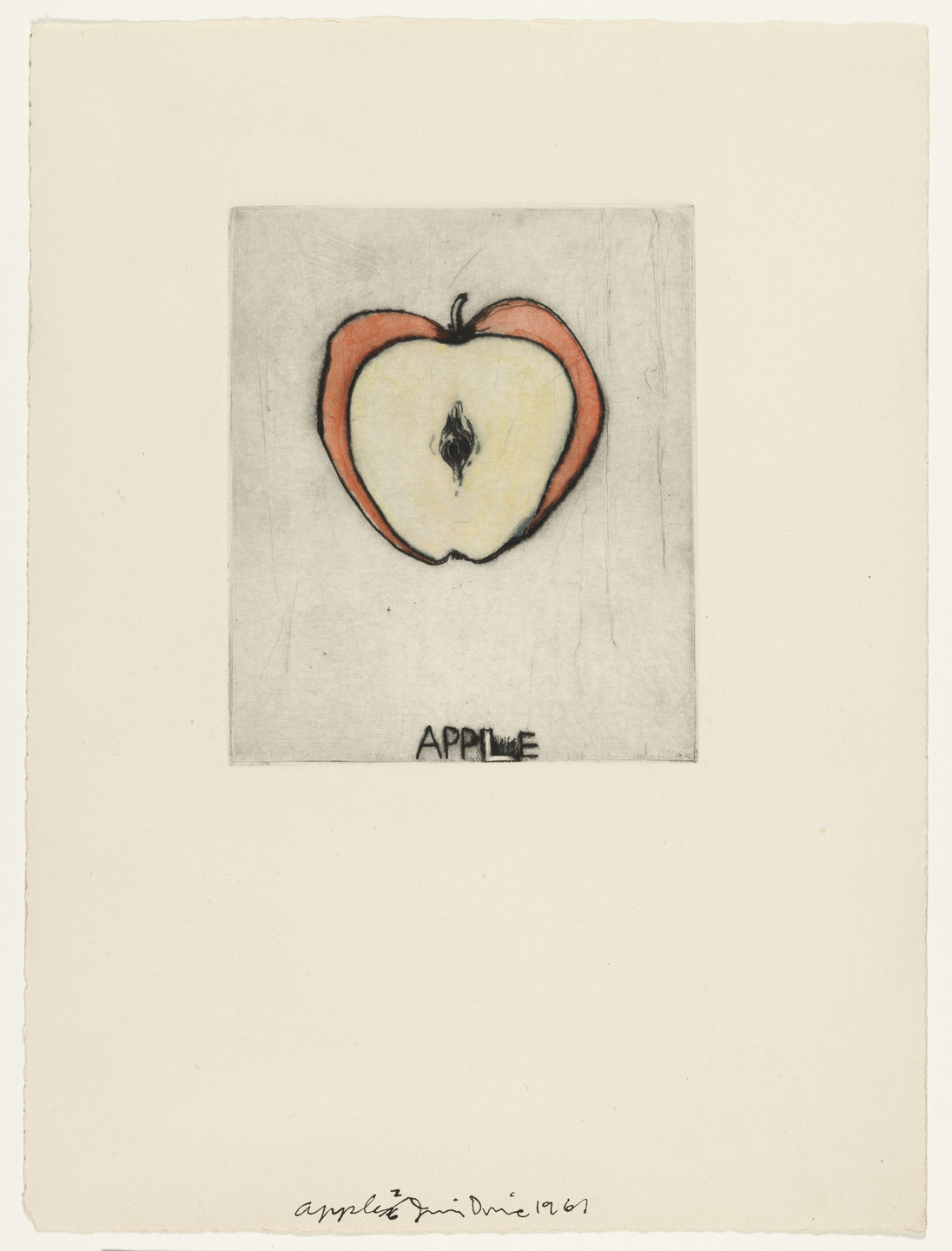 Jim Dine. Apple fromThese Are Ten Useful Objects Which No One Should Be Without When Traveling. 1961