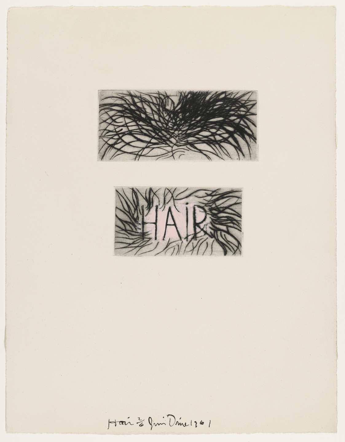 Jim Dine. Hair fromThese Are Ten Useful Objects Which No One Should Be Without When Traveling. 1961