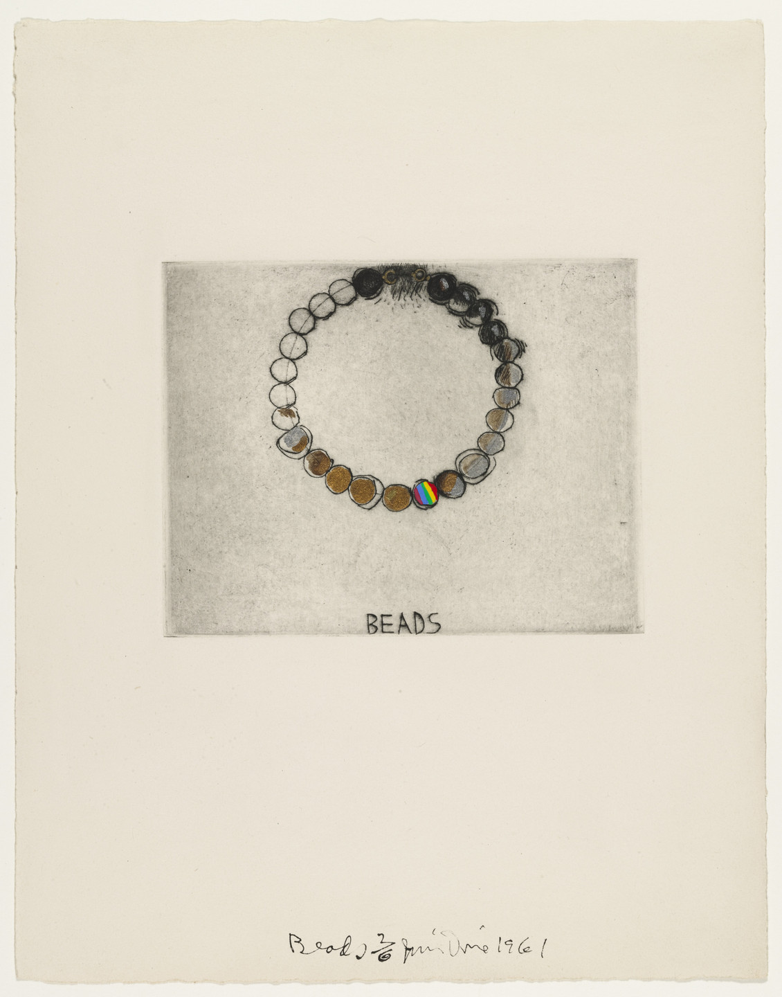 Jim Dine. _Beads_fromThese Are Ten Useful Objects Which No One Should Be Without When Traveling. 1961