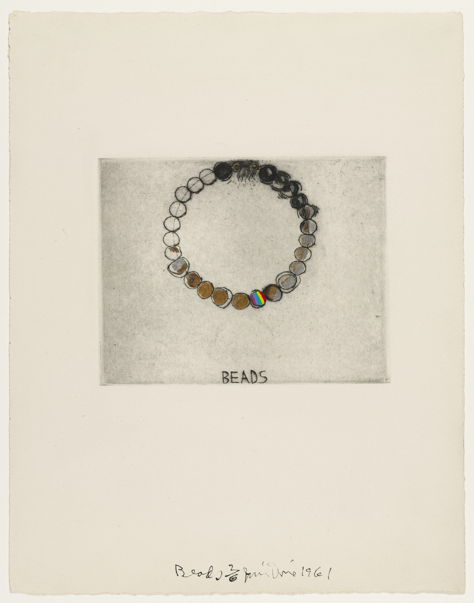 Jim Dine. BeadsfromThese Are Ten Useful Objects Which No One Should Be Without When Traveling. 1961