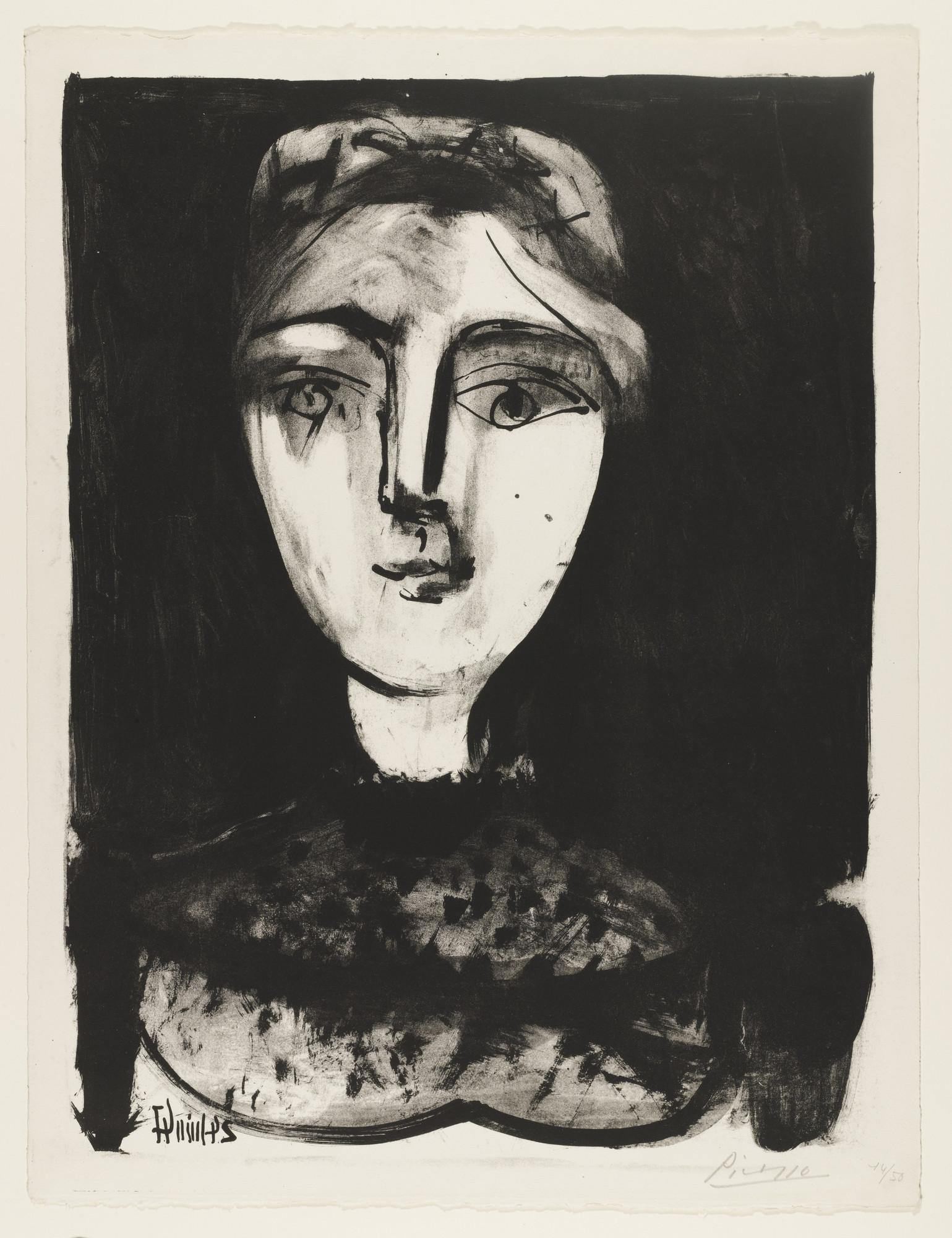 Pablo Picasso. Head of a Young Woman (Tête de jeune femme). (June 24 ...