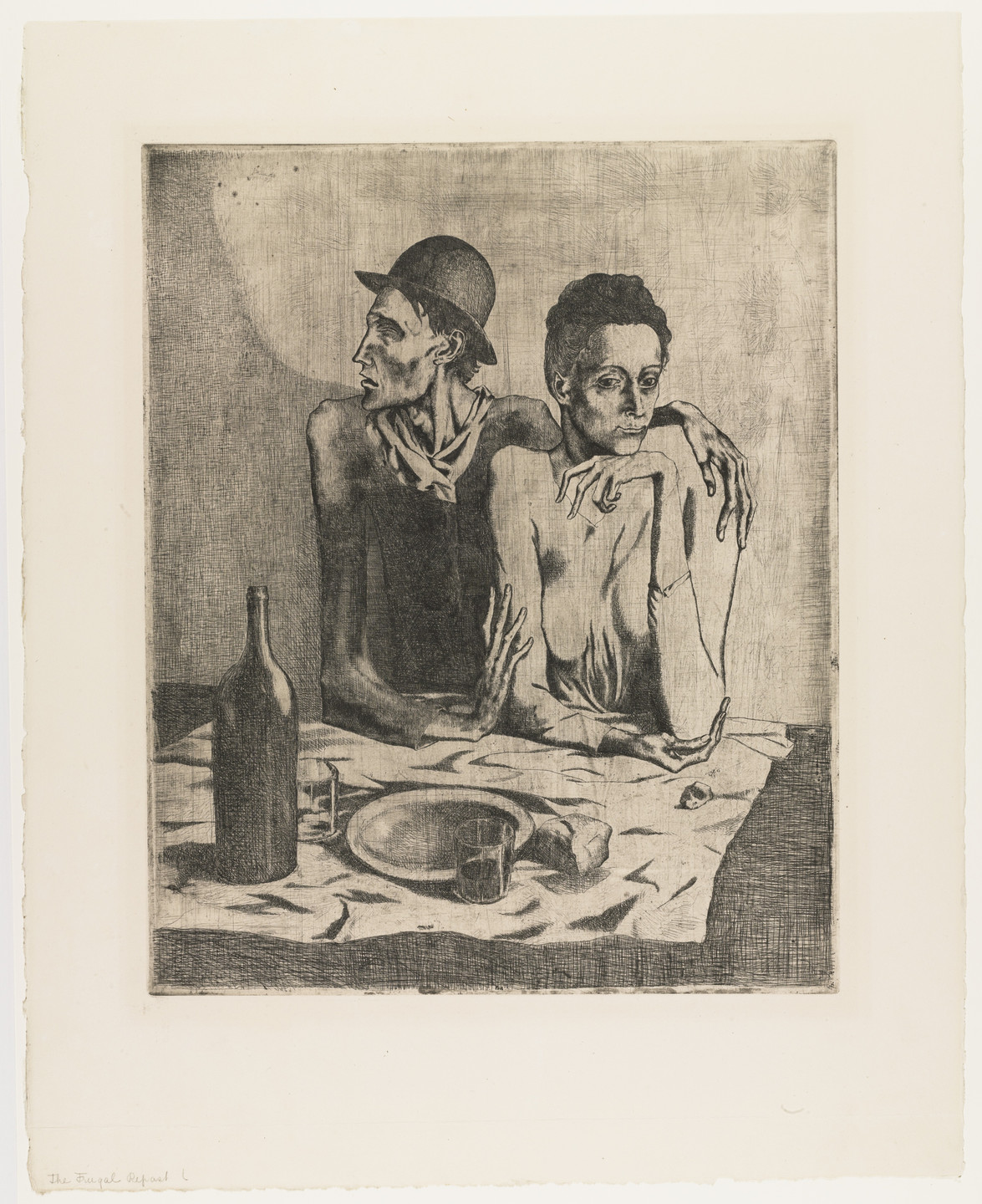 Pablo Picasso. The Frugal Repast (Le Repas frugal) from the Saltimbanques series. 1904, published 1913