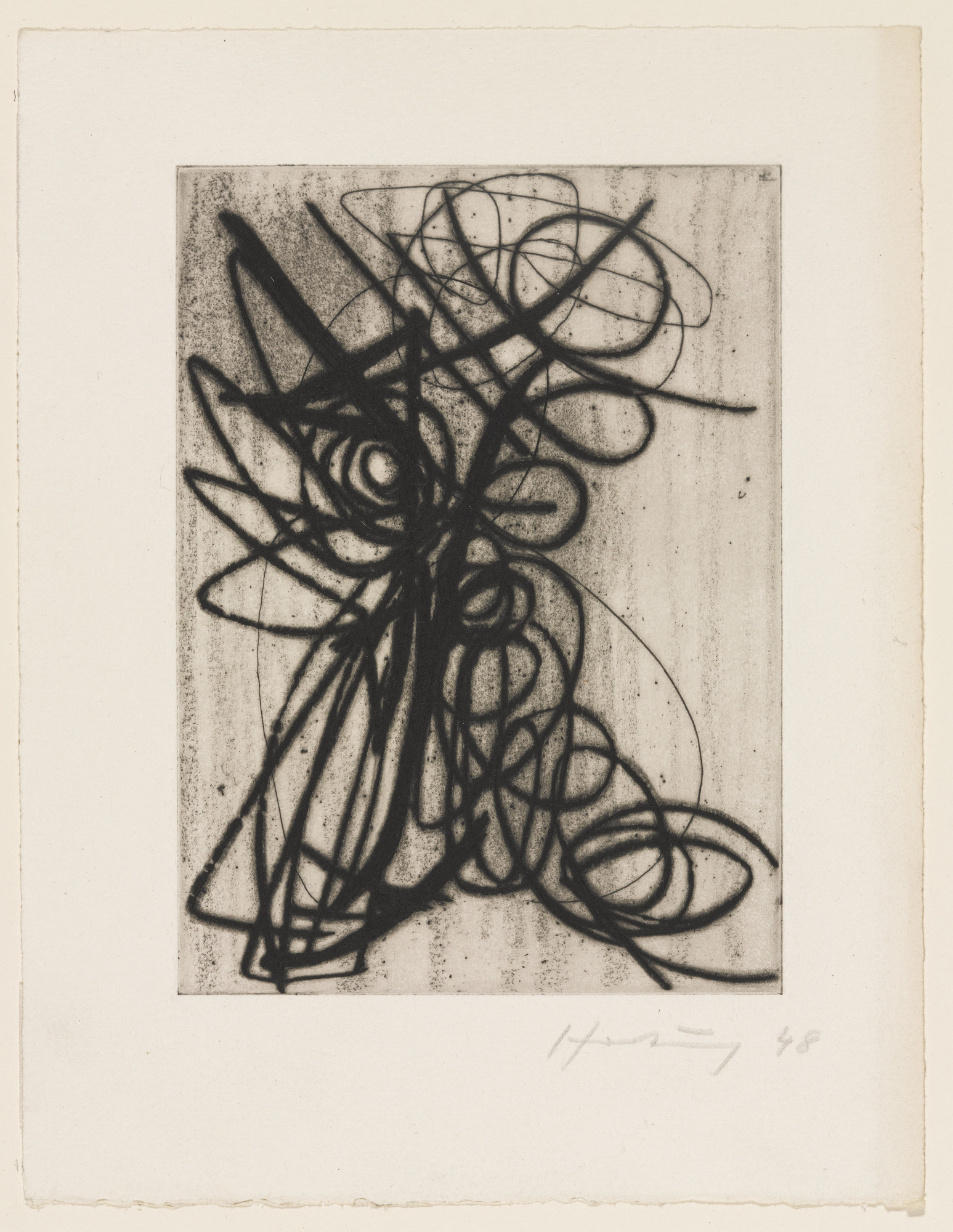 Hans Hartung. Composition. 1948