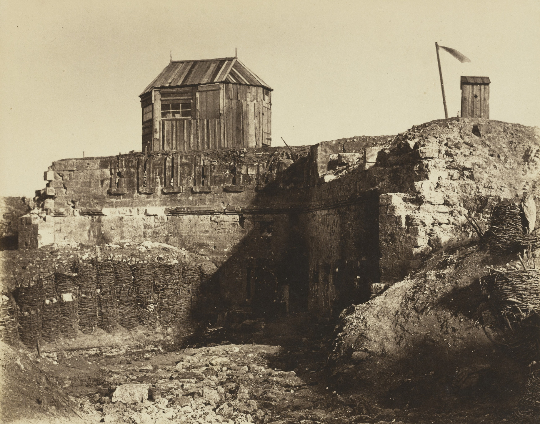 Jean-Charles Langlois. Malakoff Tower, Crimea. 1855