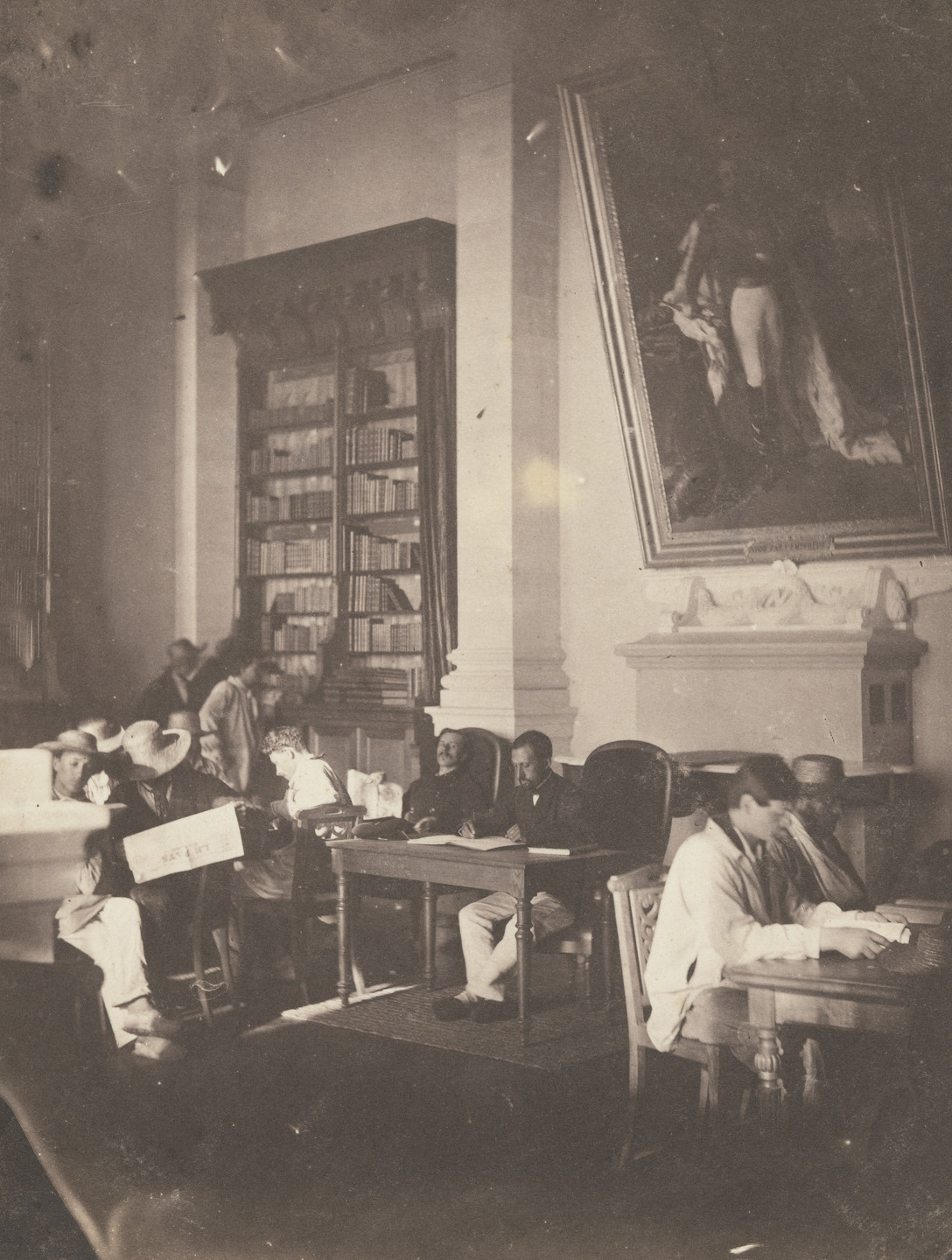 Charles Nègre. Reading Room, Imperial Asylum, Vincennes. 1858-59