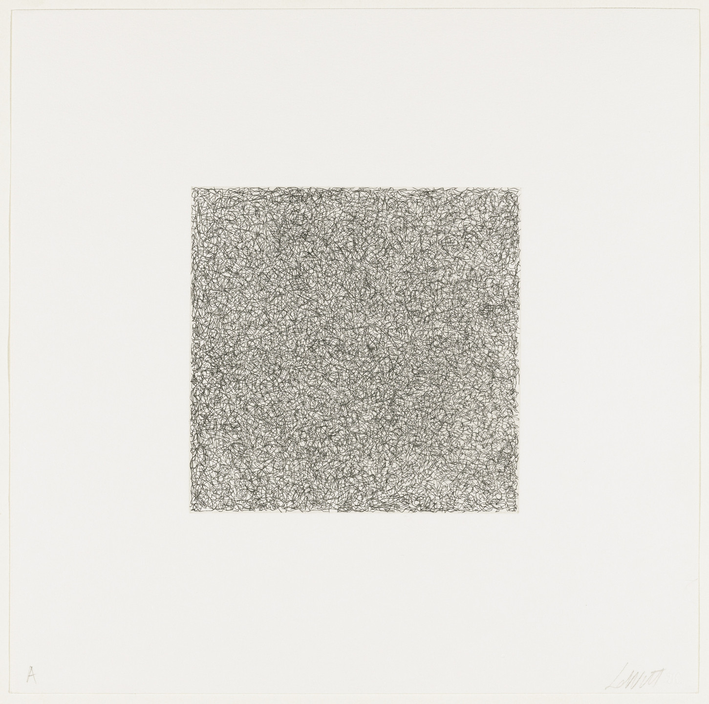 Sol LeWitt. Scribbles Printed in Four Directions Using Four Colors. 1971