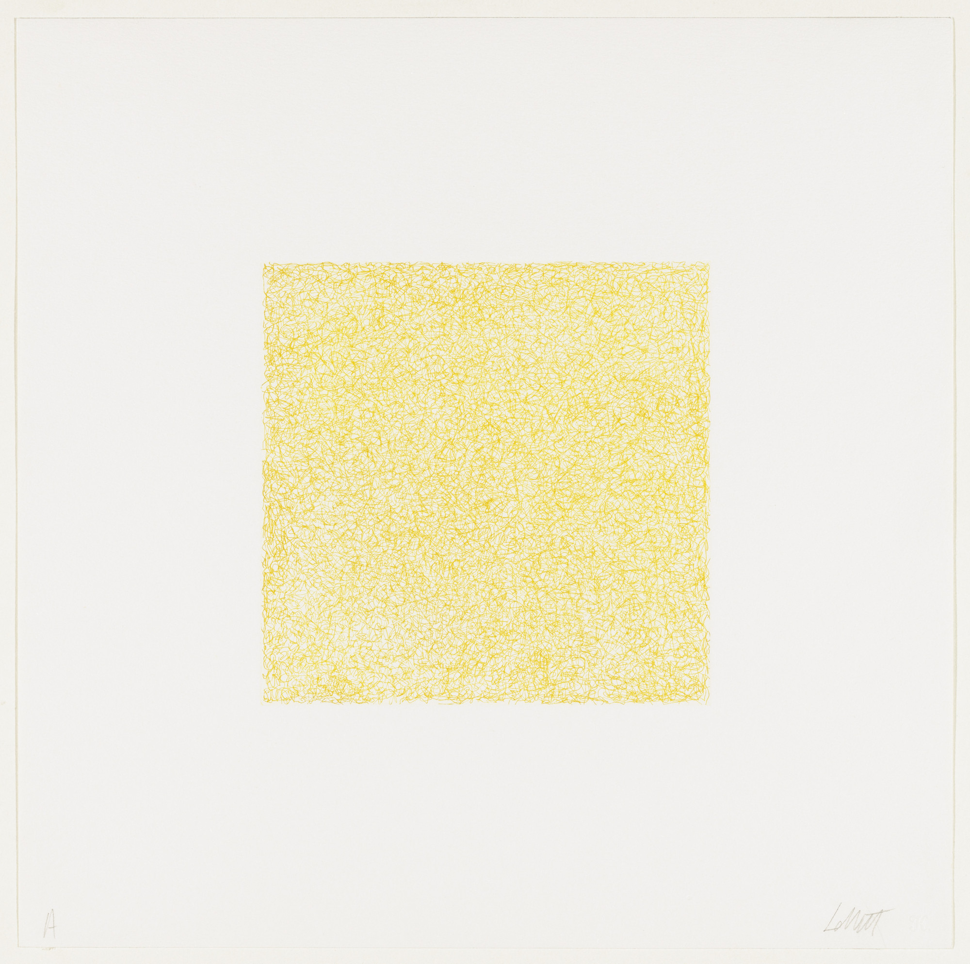 Sol LeWitt. Untitled from Scribbles printed in four directions using four colors. 1971