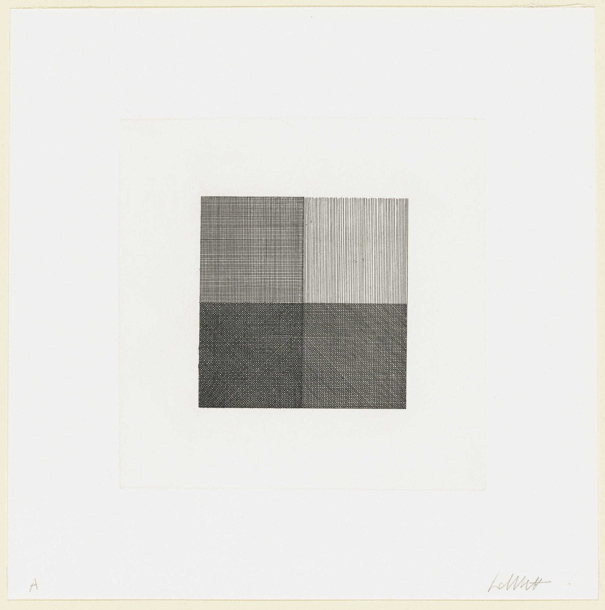 Sol Lewitt Lines In Four Directions Superimposed In Each Quarter