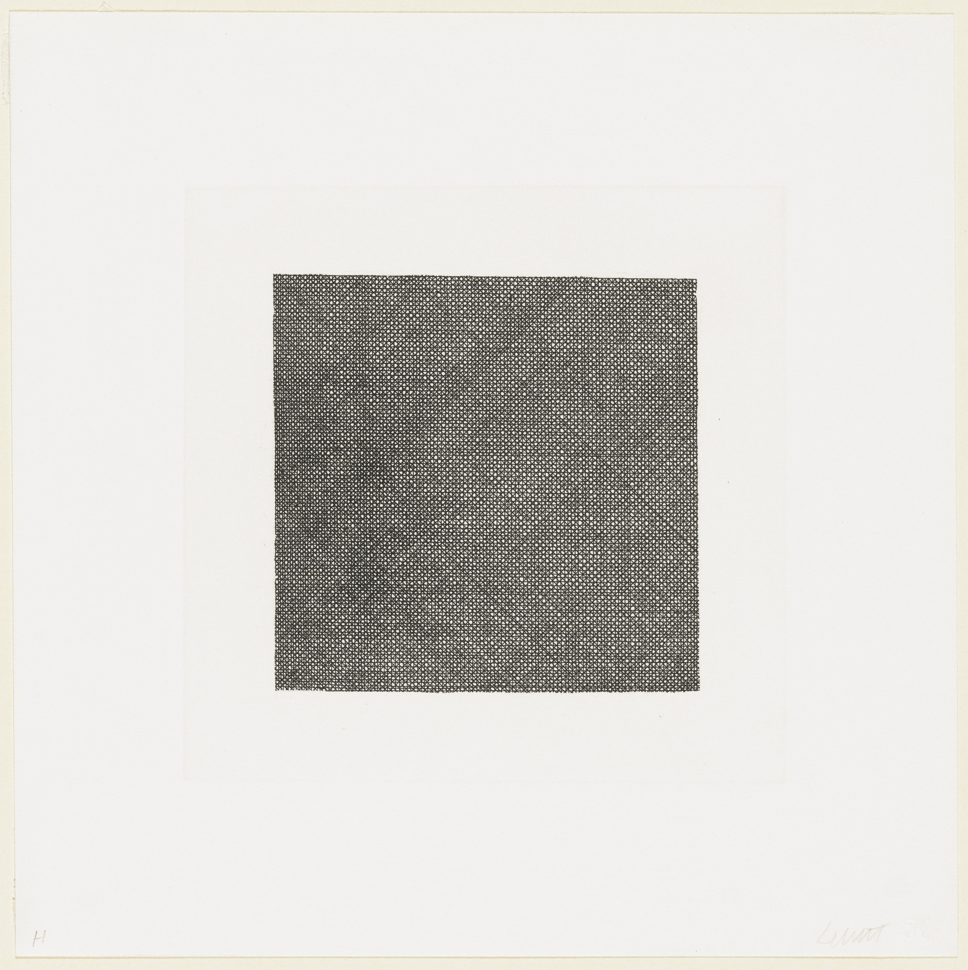Sol LeWitt. Lines in Four Directions, Superimposed. 1971