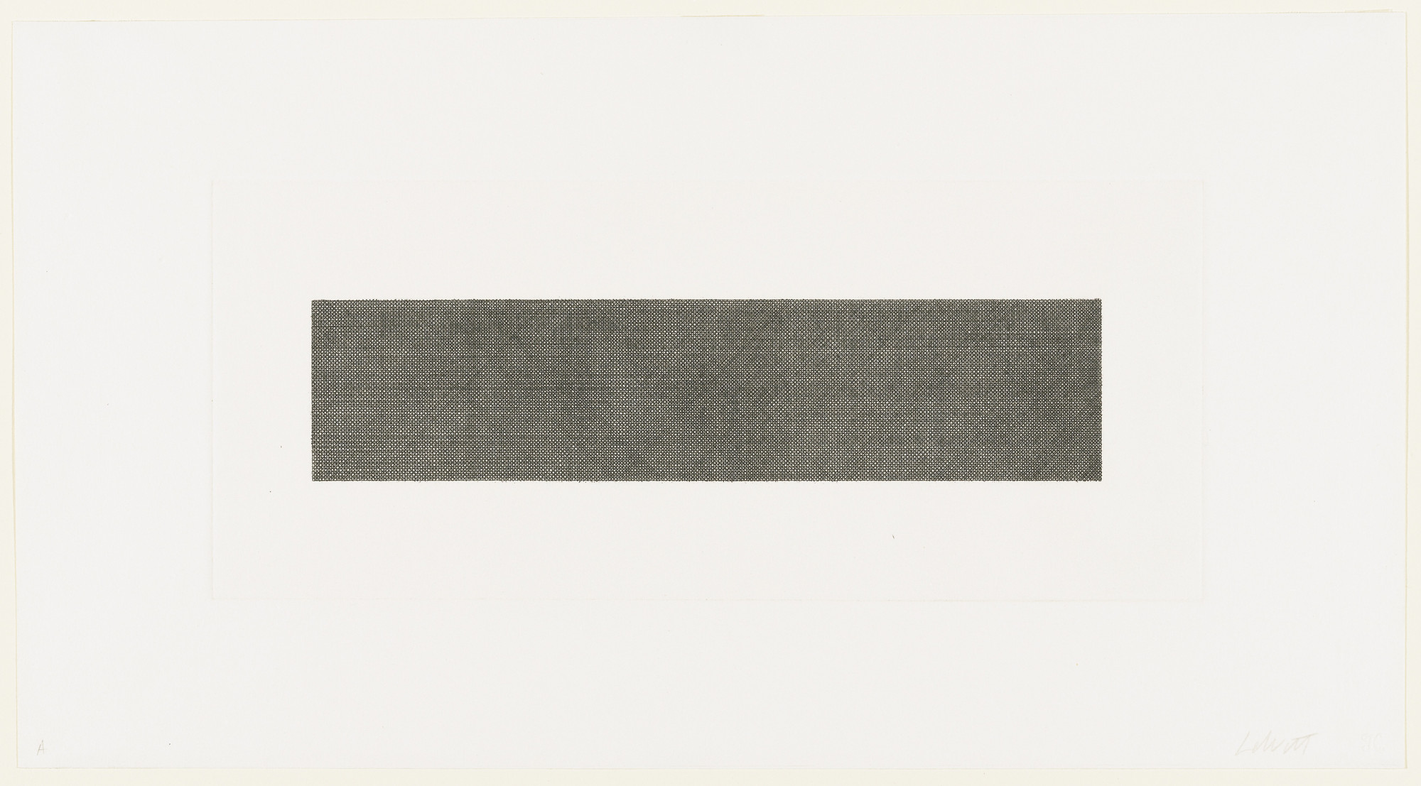 Sol LeWitt. Lines in Four Directions, Superimposed (Horizontal). 1971