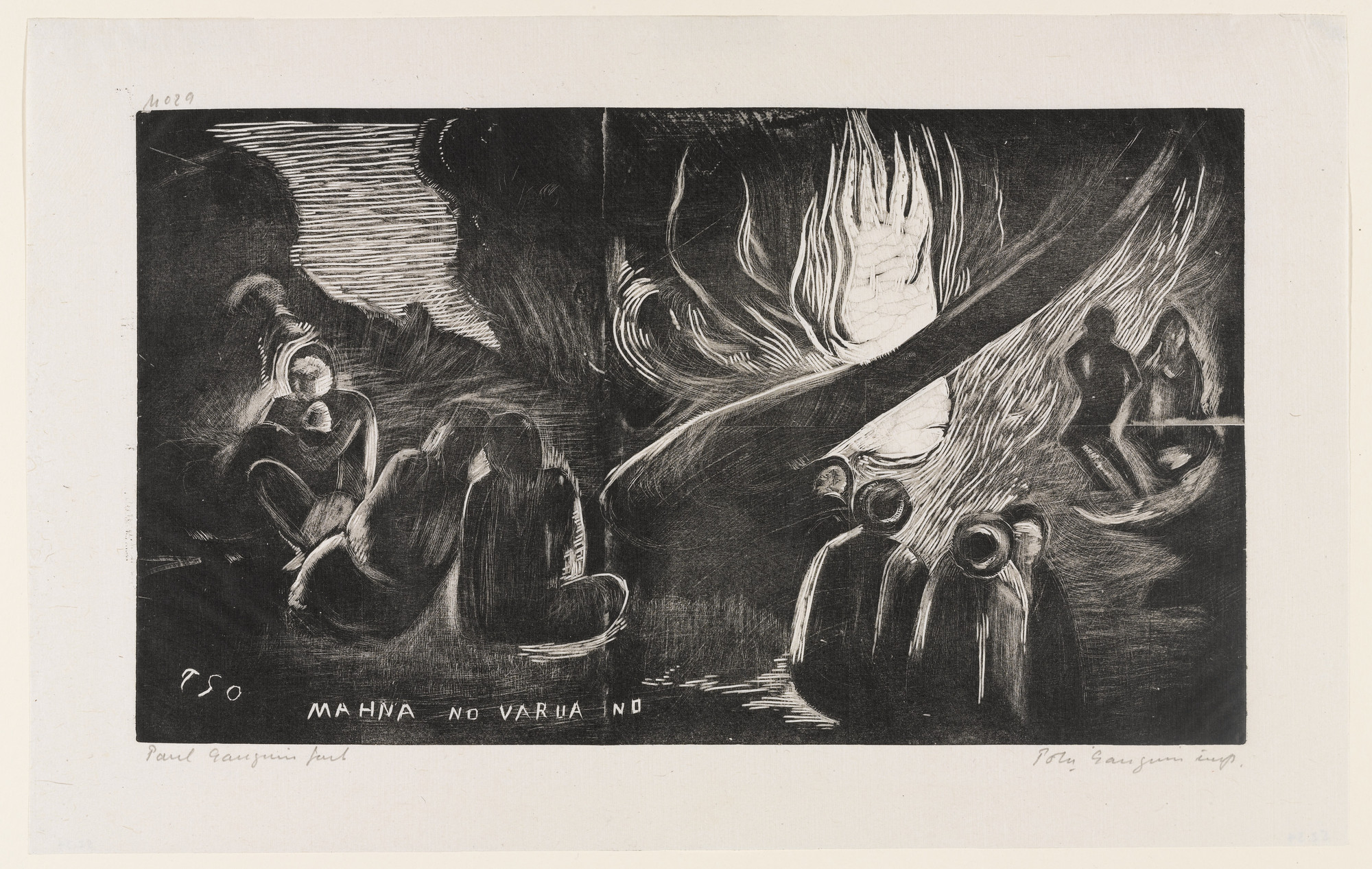 Paul Gauguin. The Spirit of Evil is Speaking (Mahna no varua ino). 1894, printed 1921