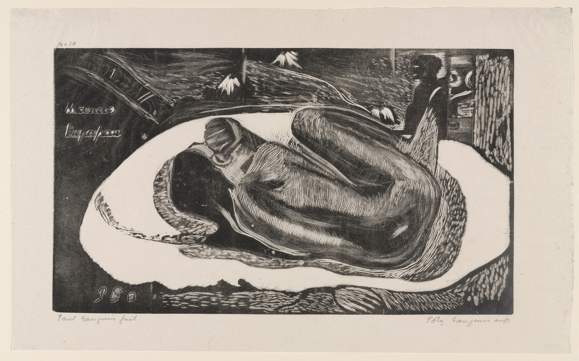Paul Gauguin. Manao tupapau (Watched by the Spirit of the Dead) from Noa Noa (Fragrant Scent). 1894, printed 1921