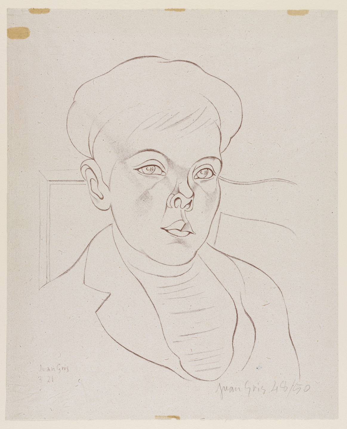 Juan Gris. Portrait of a Boy. (March 1921)