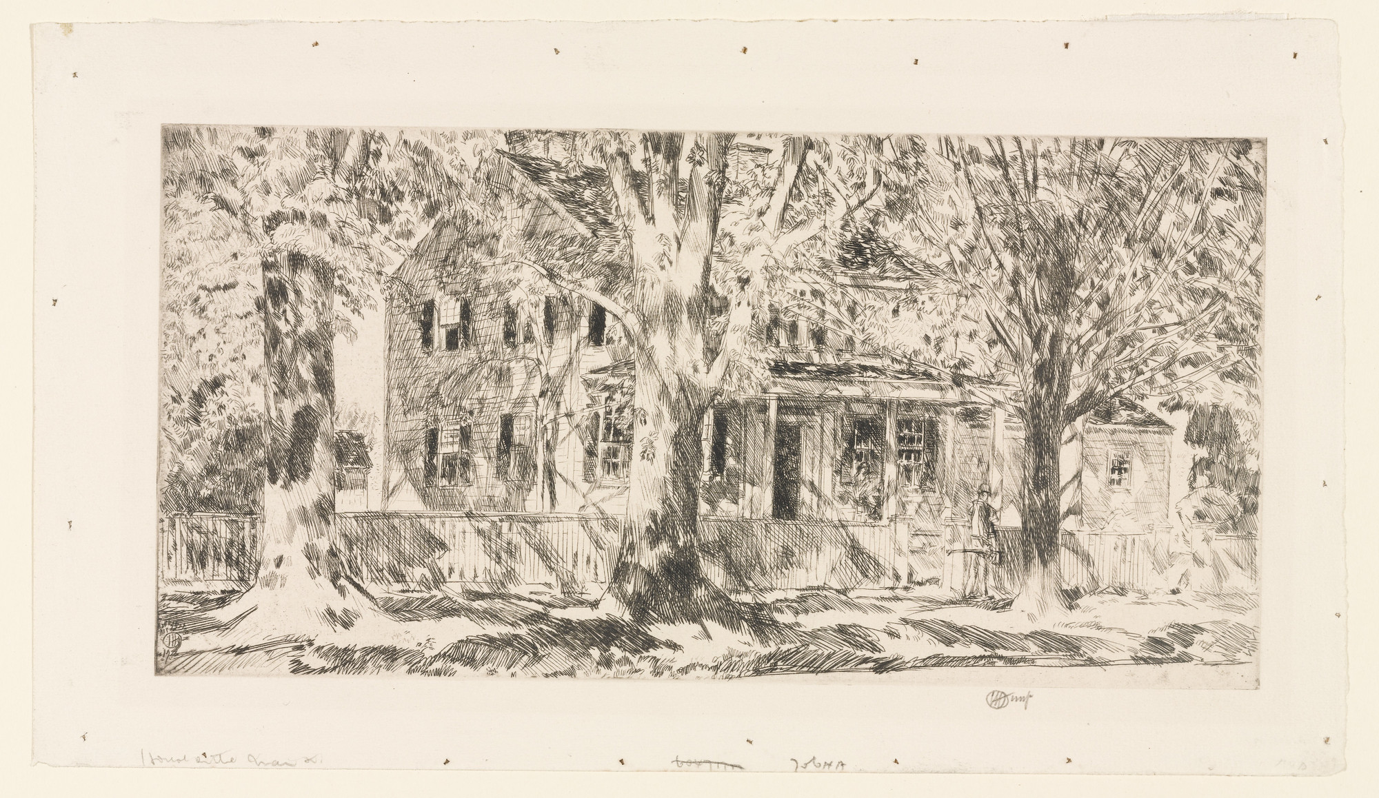Childe Hassam. House on Main Street, Easthampton. 1922