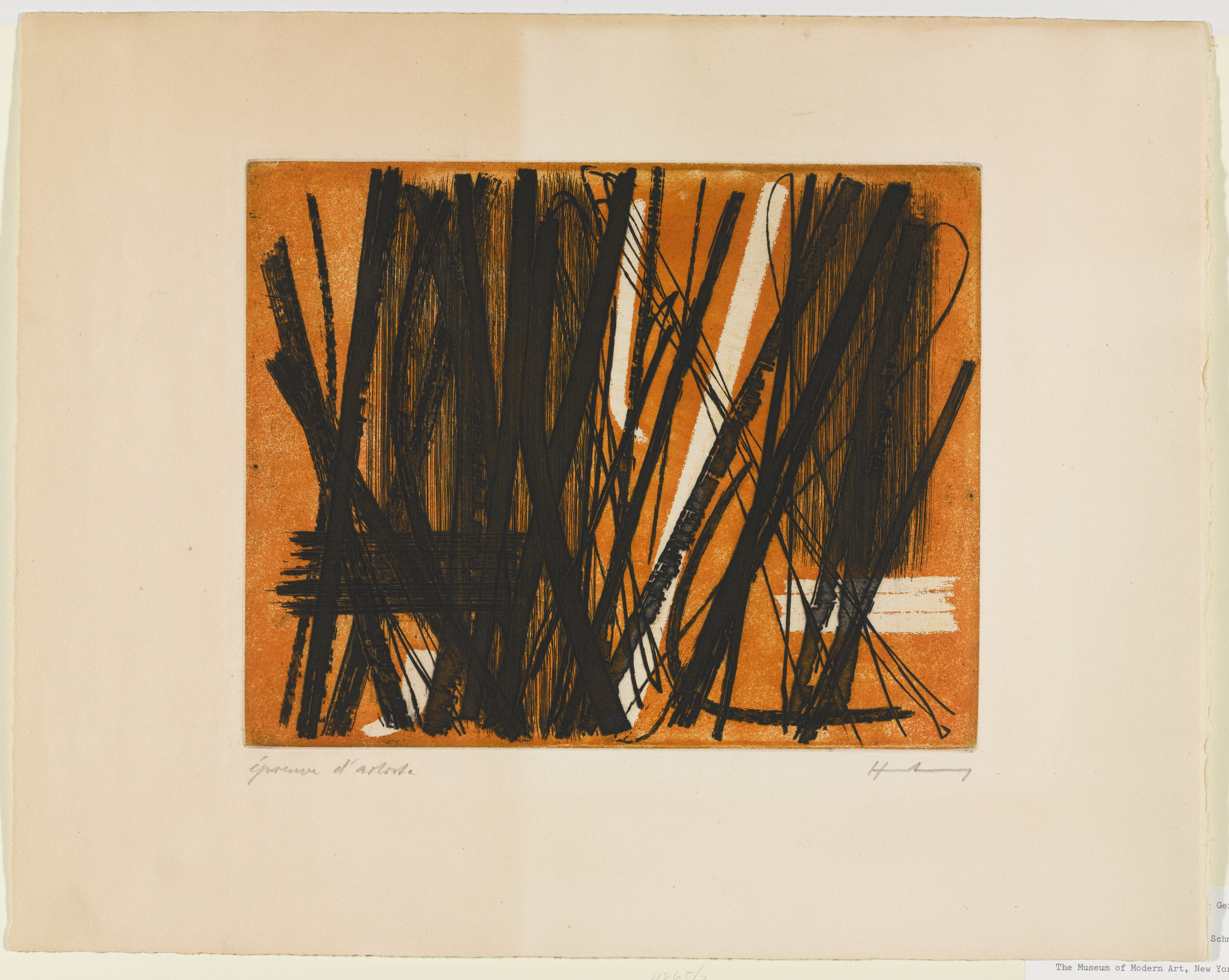 Hans Hartung. Etching #5. (1953)