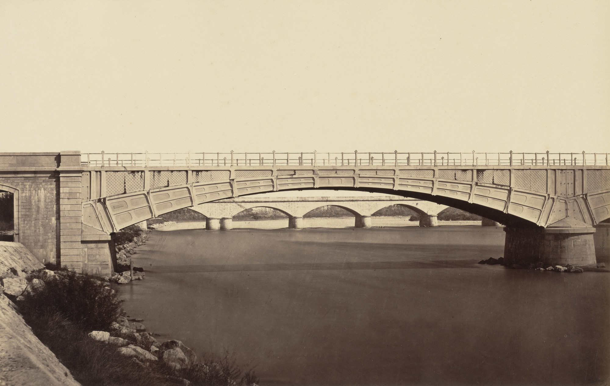 Édouard-Denis Baldus. Viaduct across the Isère River. c. 1857