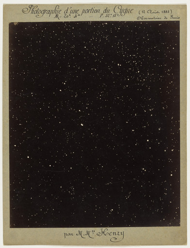 Paul Henry, Prospère Henry. Section of the Constellation Cygnus. August 12, 1885