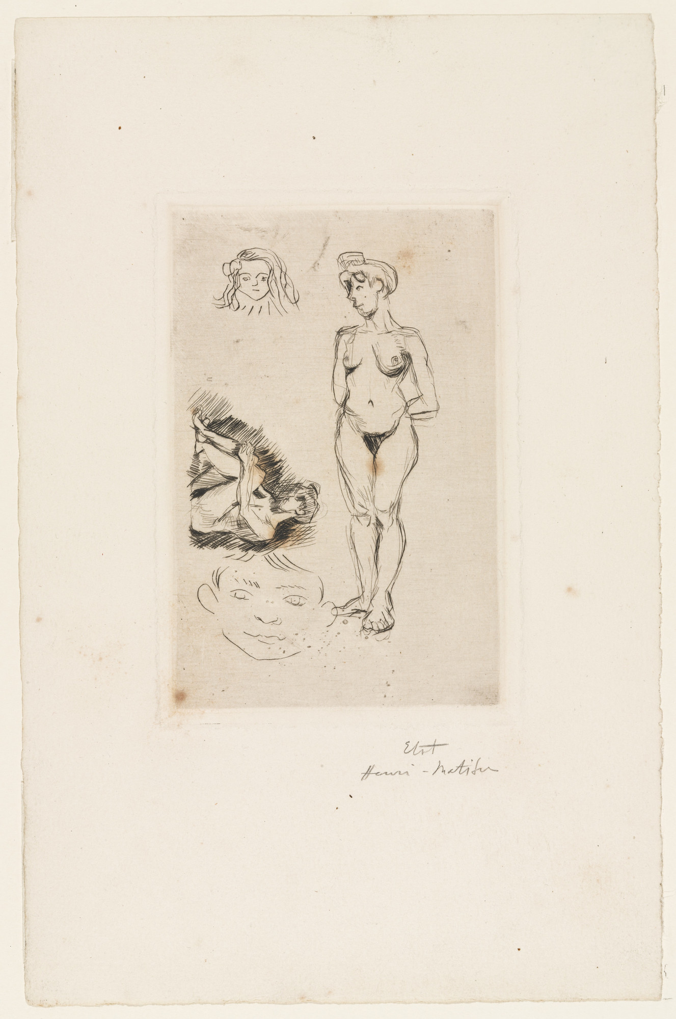 Henri Matisse. Two Nudes, Two Heads of Children (Deux nus, deux têtes d'enfants). 1900–03