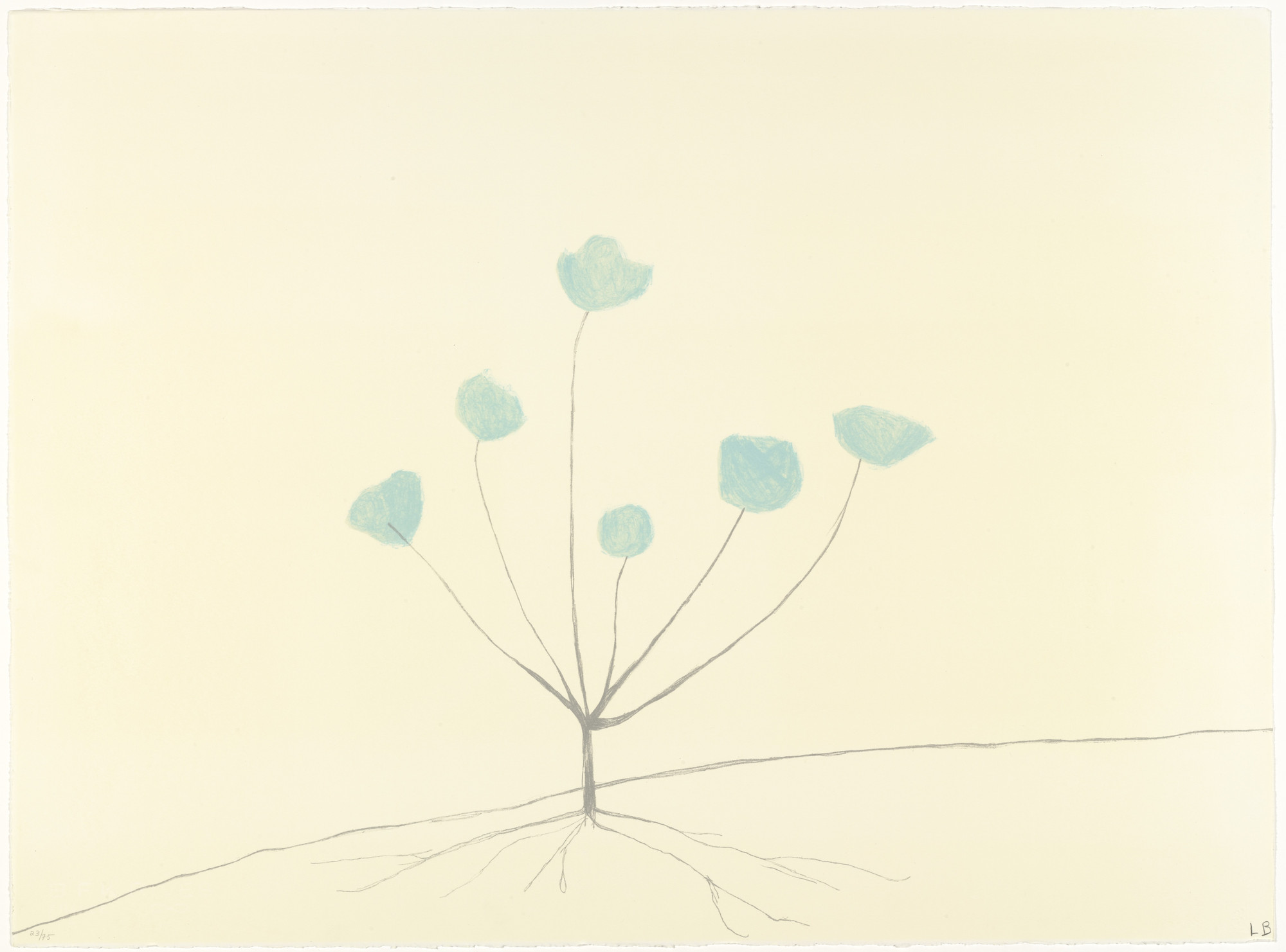 Louise Bourgeois. A Flower In the Forest, from the portfolio by various artists, The Geldzahler Portfolio. 1998