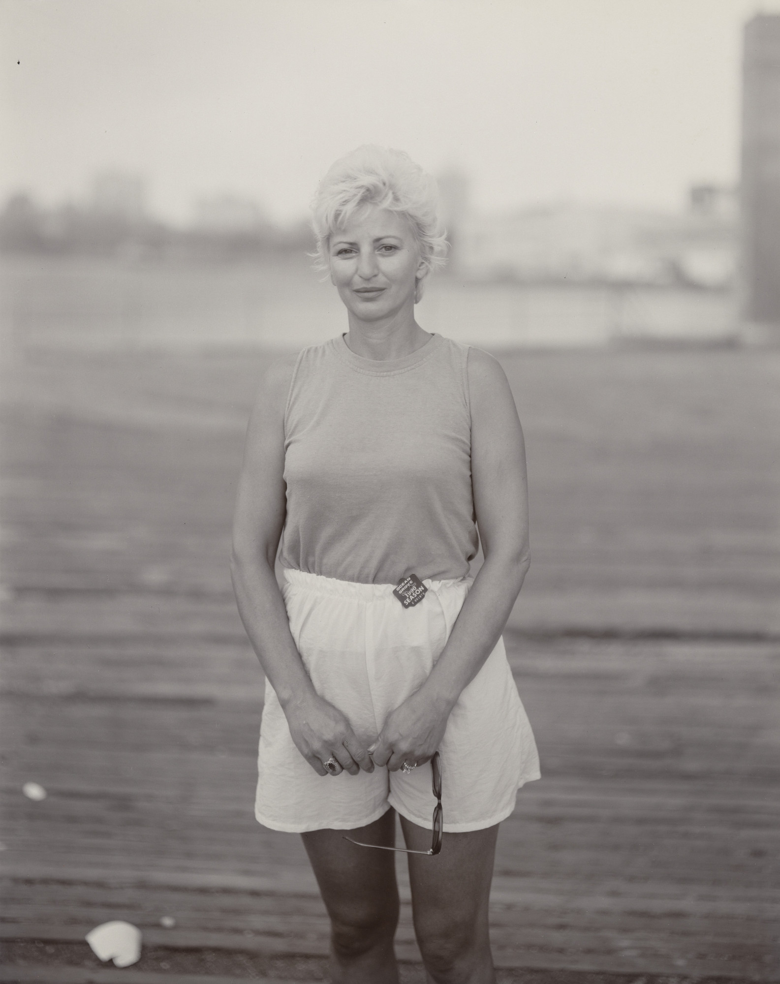 Judith Joy Ross. Blond Woman, Asbury Park, New Jersey. 1990