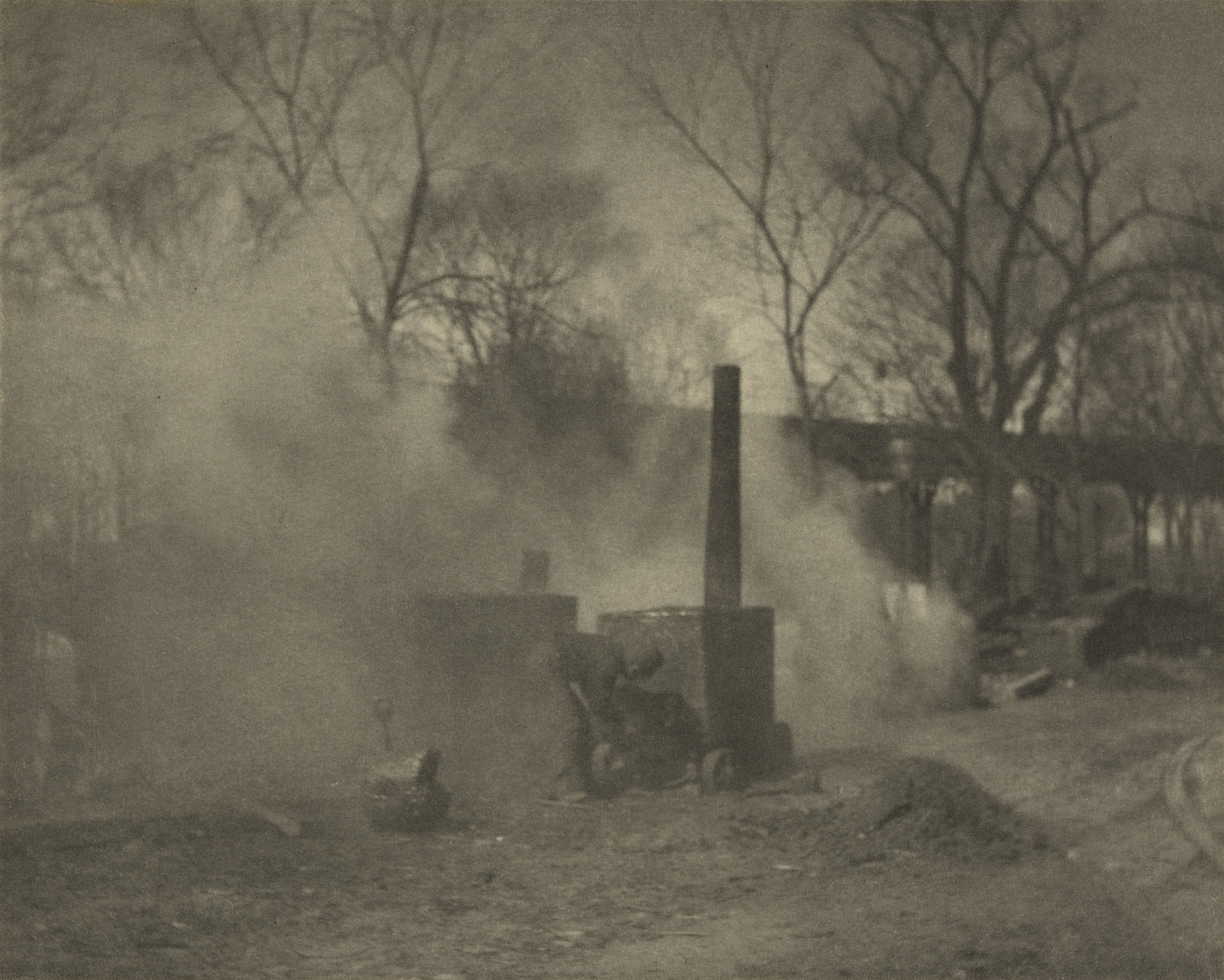 Alfred Stieglitz. The Asphalt Paver, New York. 1892-93