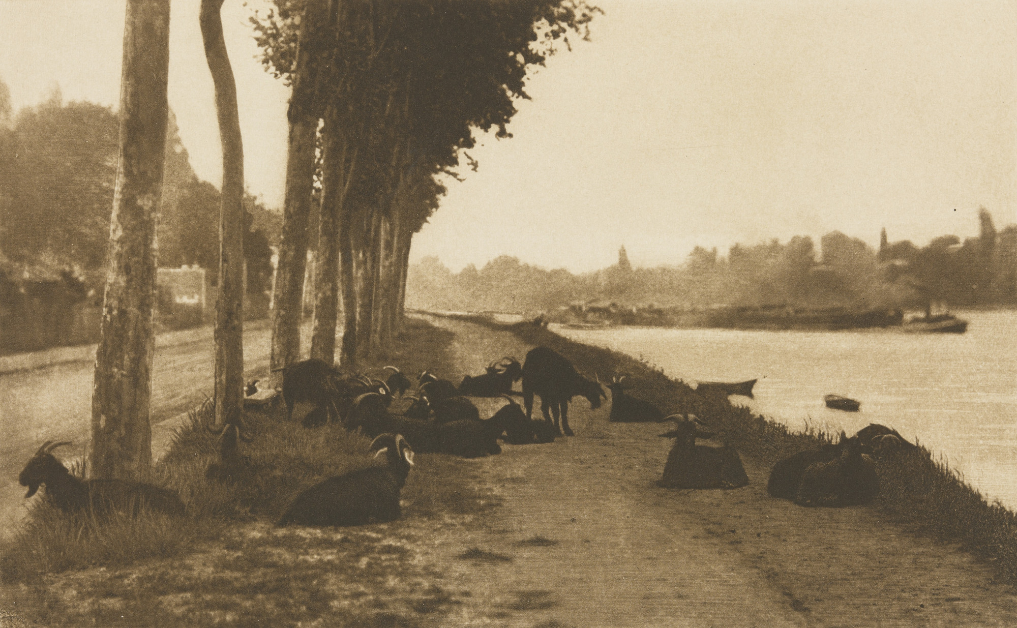 Alfred Stieglitz. On the Seine, near Paris. 1894