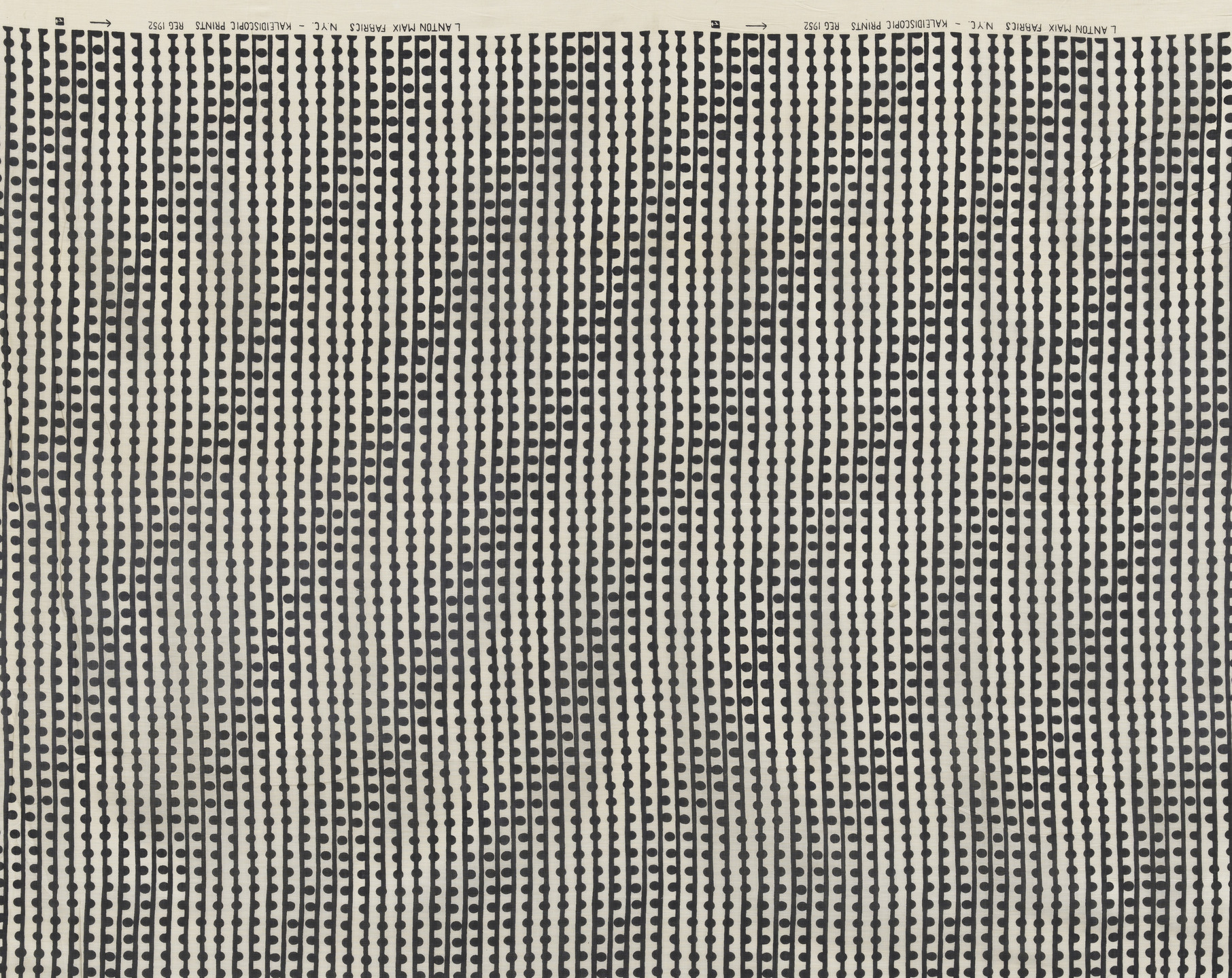 Herbert Bayer. Dot Dash Dot sheer fabric. c. 1952