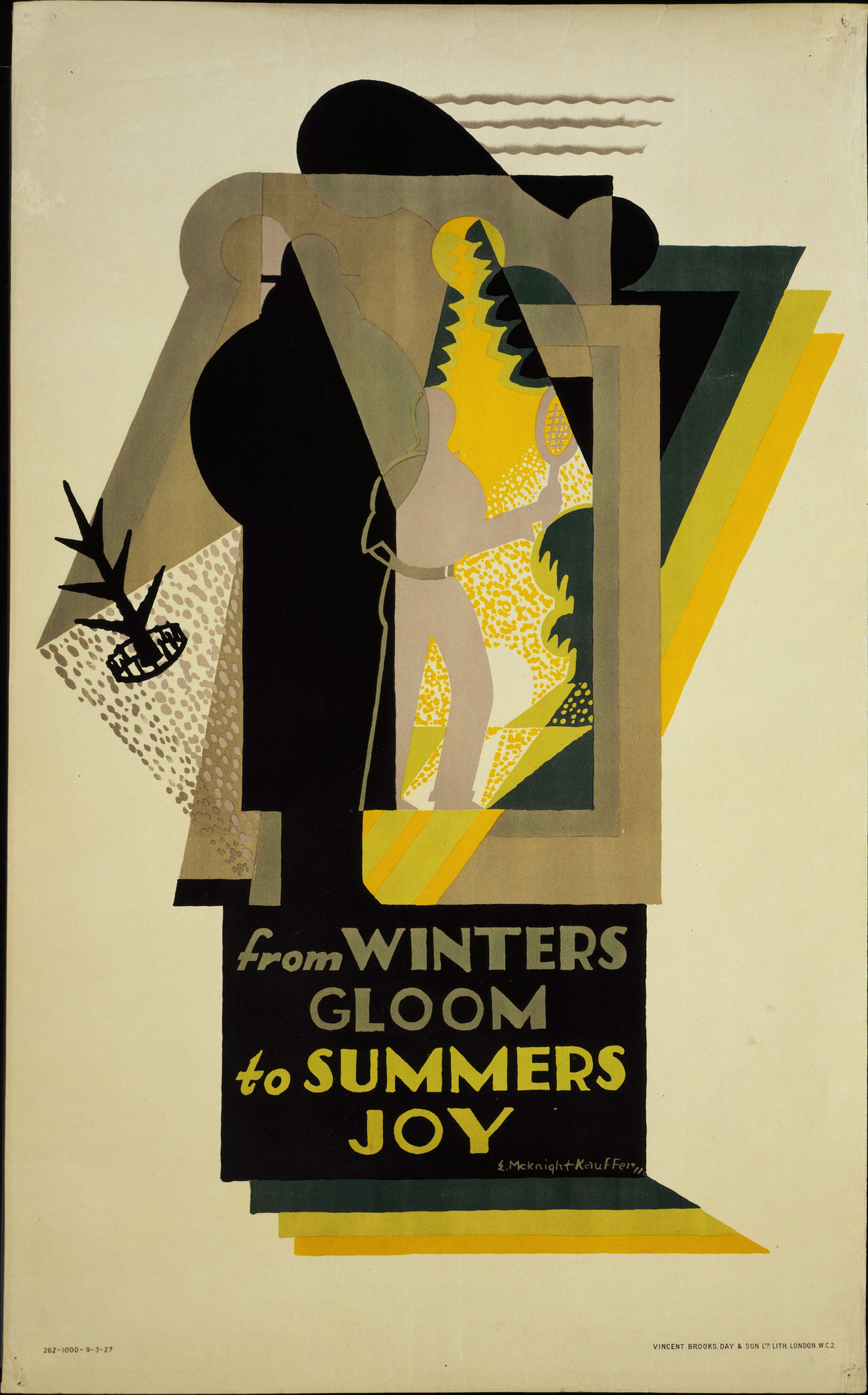 E. McKnight Kauffer. From Winters Gloom to Summers Joy. 1927