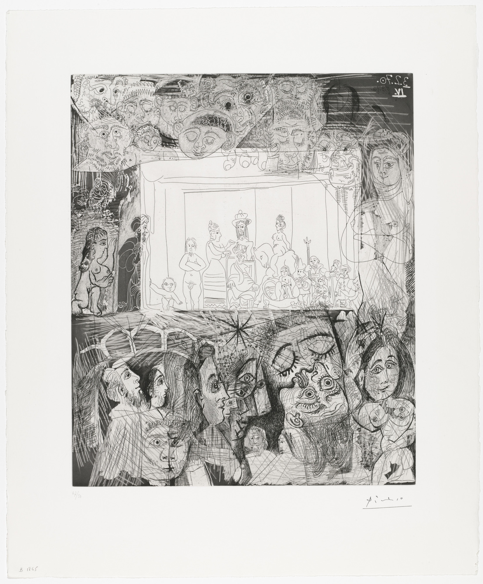 "Pablo Picasso. ""Ecce Homo,"" after Rembrandt from Suite 156. 1970, published 1978"