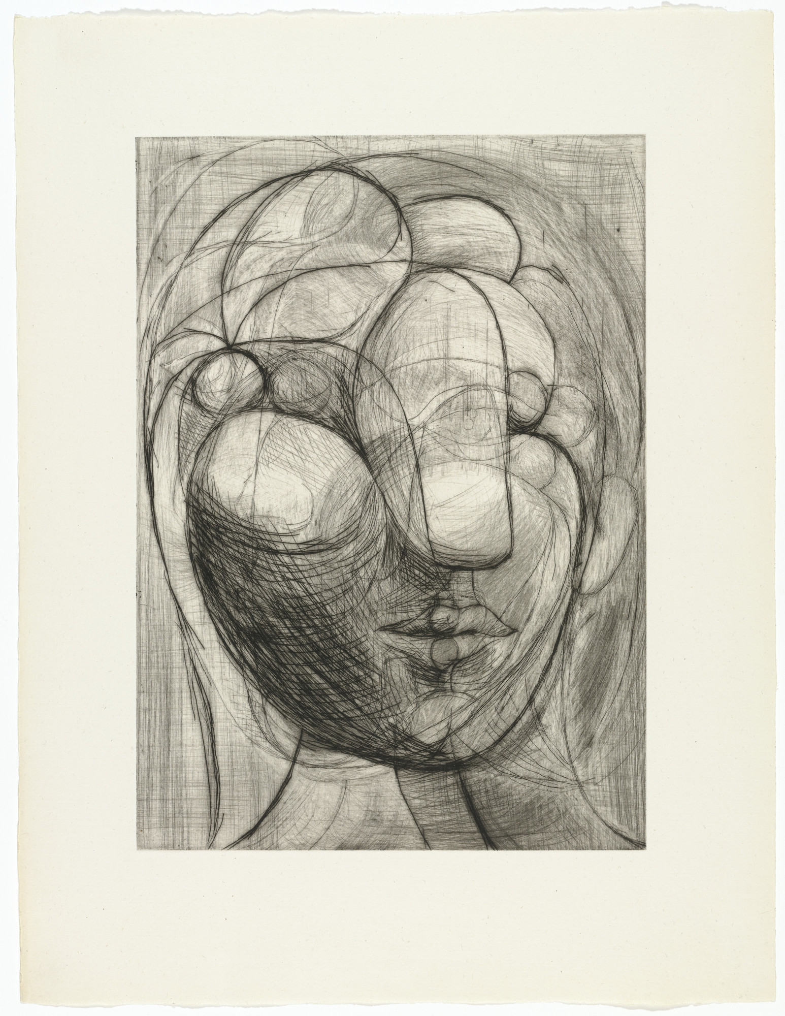 Pablo Picasso. Sculpture: Head of Marie-Thérèse (Sculpture. Tête de Marie-Thérèse). 1933, published 1942