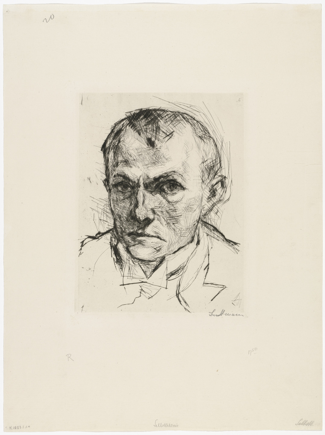 Max Beckmann. Self-Portrait (Selbstbildnis). 1914, published 1918