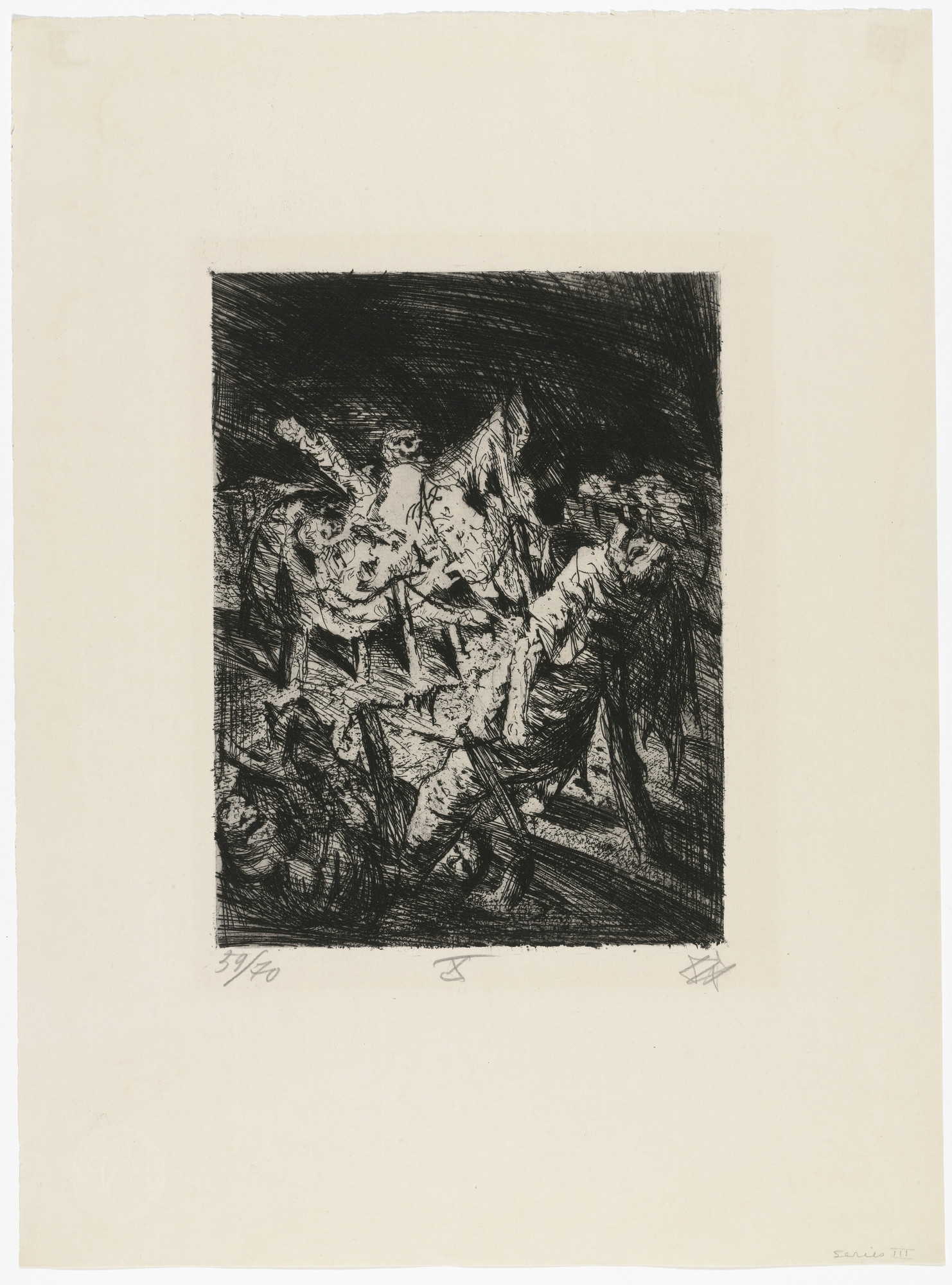 Otto Dix. Tangled Barbed Wire before the Trench (Drahtverhau vor dem Kampfgraben) _ from _The War (Der Krieg). (1924)