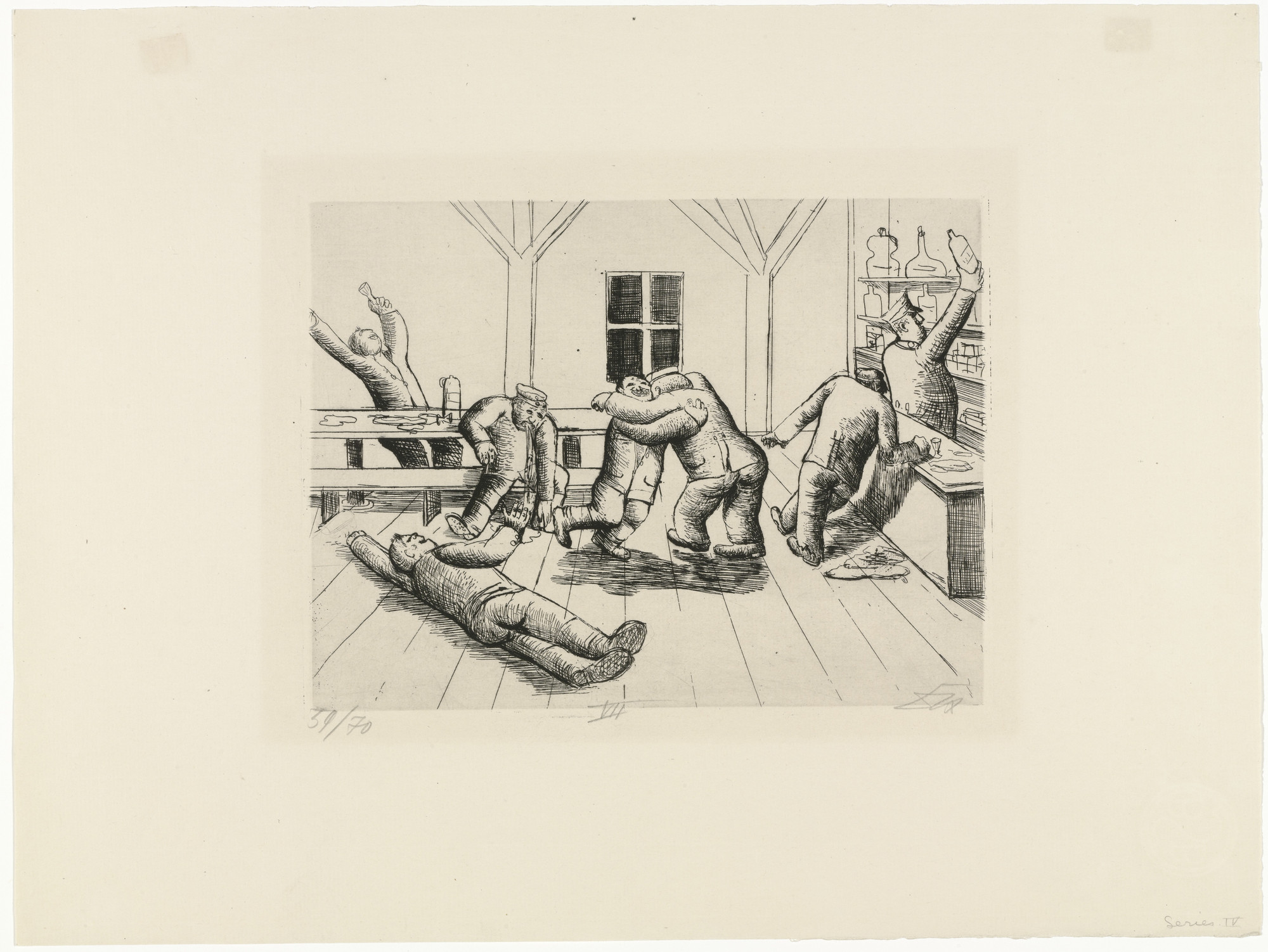 Otto Dix. Canteen in Haplincourt (Kantine in Haplincourt) from The War (Der Krieg). (1924)