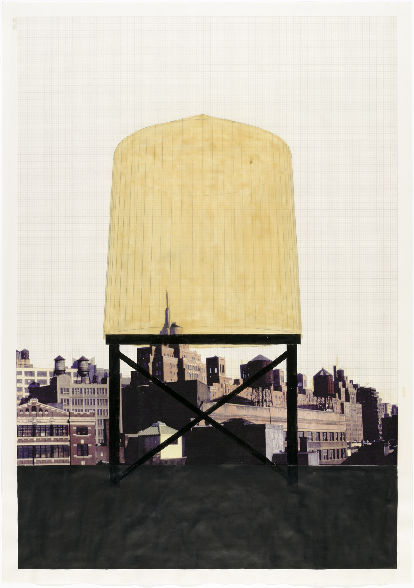 Rachel Whiteread. Drawing for Water Tower, I. (1997)