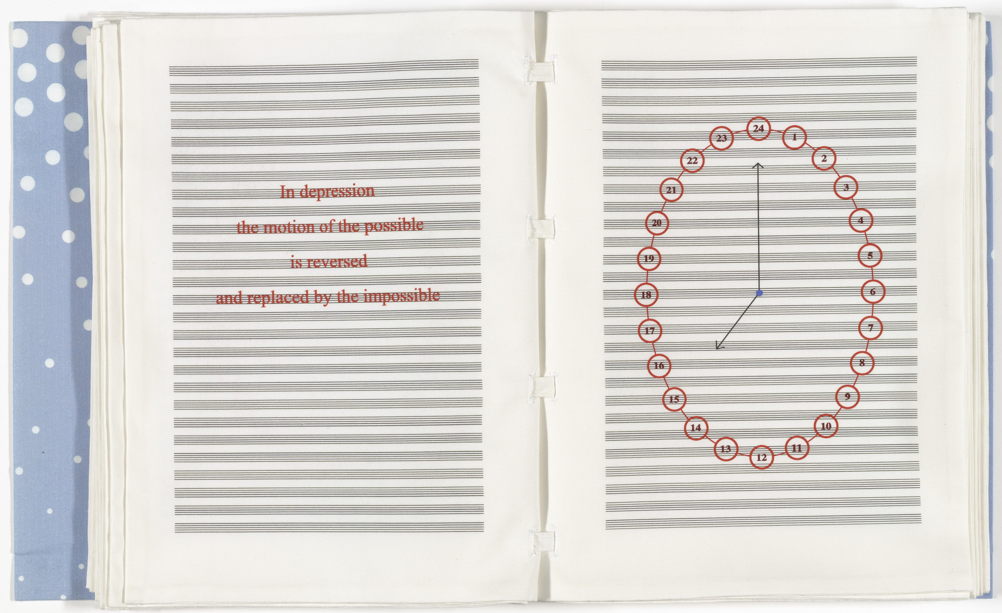 Louise Bourgeois. Untitled, no. 10 of 24, from the illustrated book, Hours of the Day. 2006