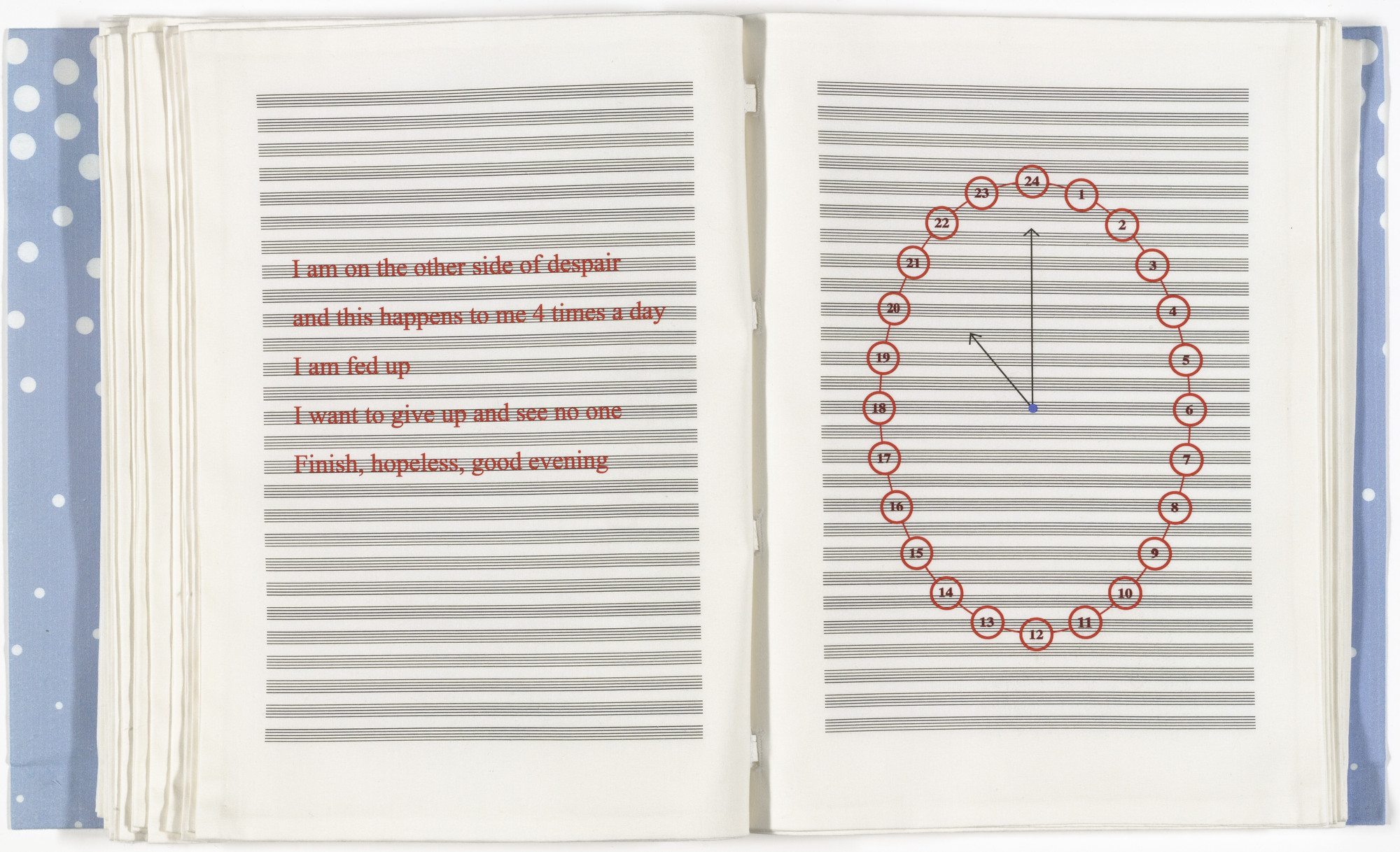 Louise Bourgeois. Untitled, no. 16 of 24, from the illustrated book, Hours of the Day. 2006