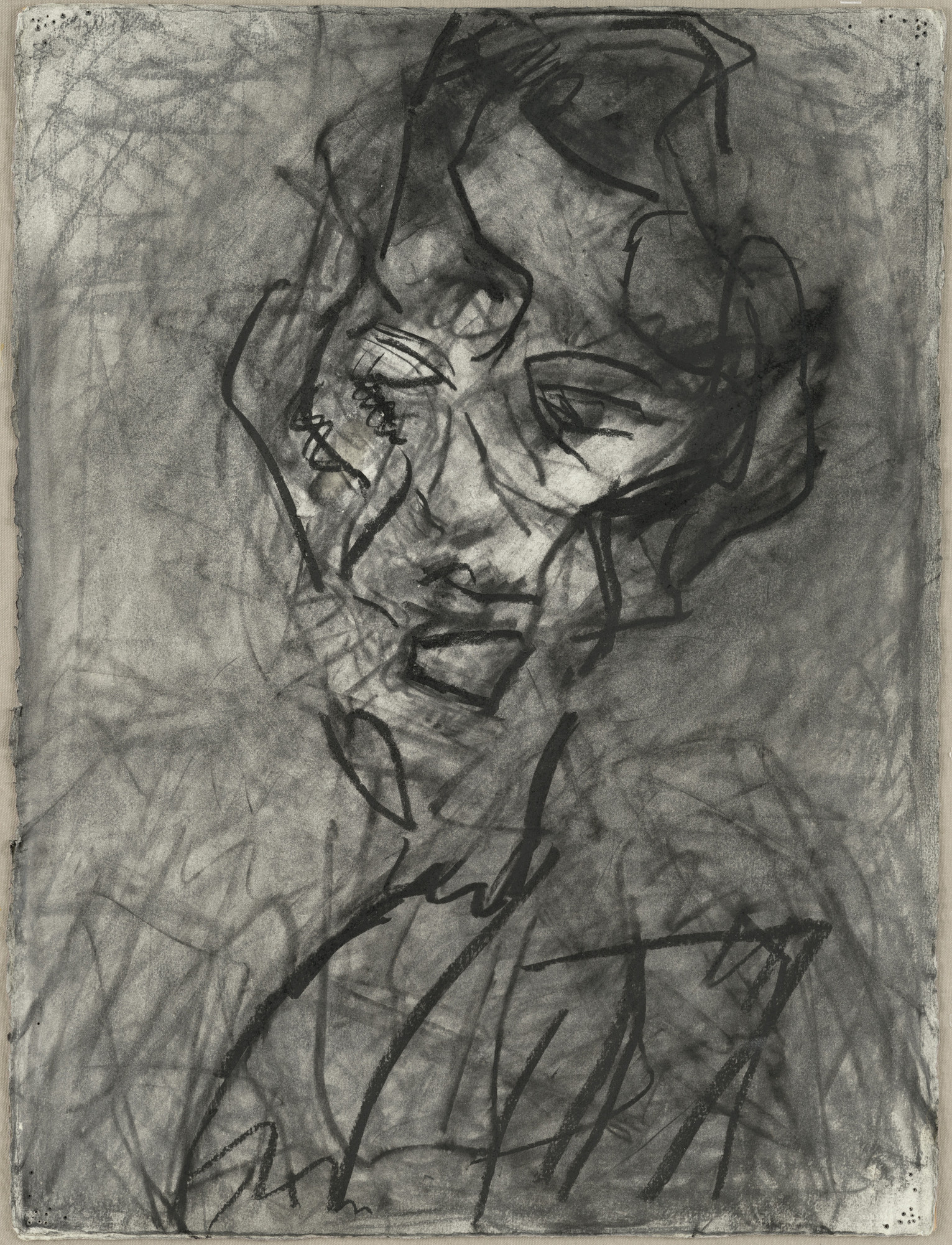 Frank Auerbach. Head of Catherine Lampert VI. (1979-80)