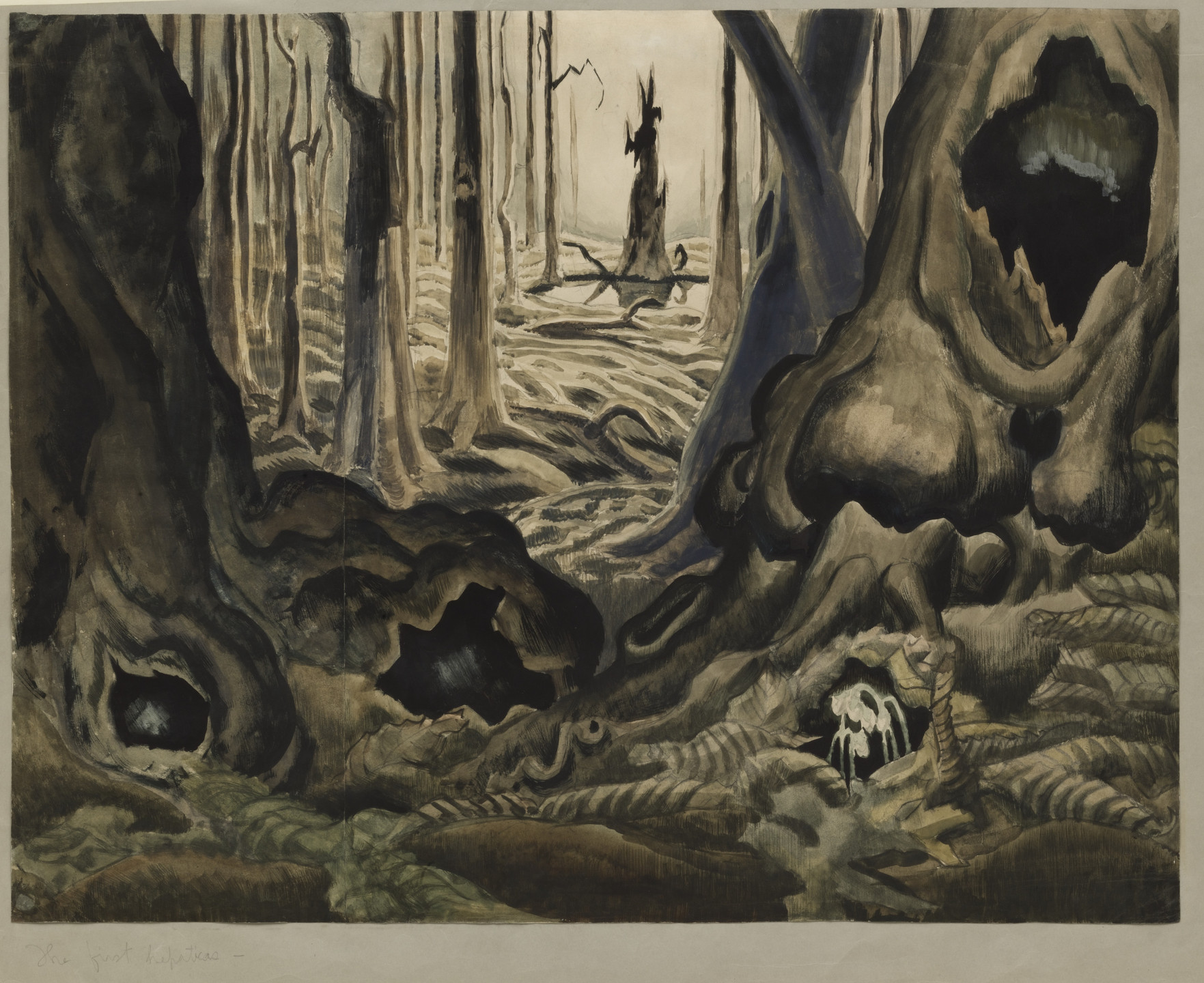 Charles Burchfield. The First Hepaticas. (1917-18)