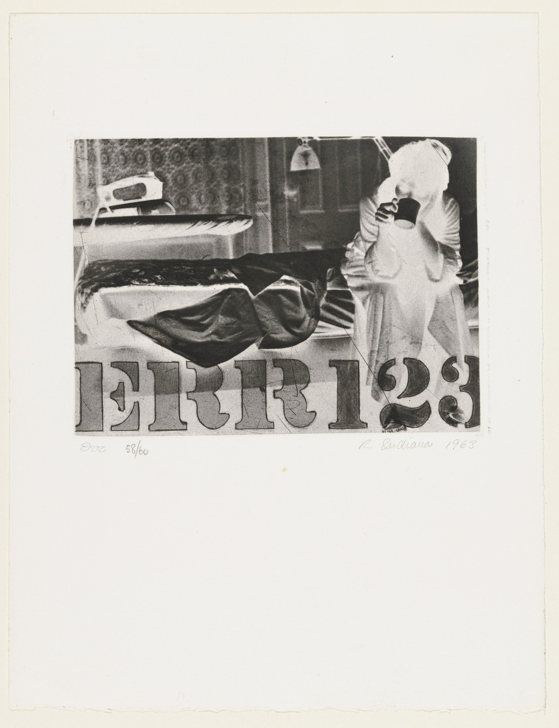 Robert Indiana. Err (plate 9) from The International Anthology of Contemporary Engraving: The International Avant-Garde, Volume 5: America Discovered (Anthologia internazionale dell'incisione contemporanea: L'Avanguardia internazionale: Volume 5: Scoperta dell'America). 1963, published 1964
