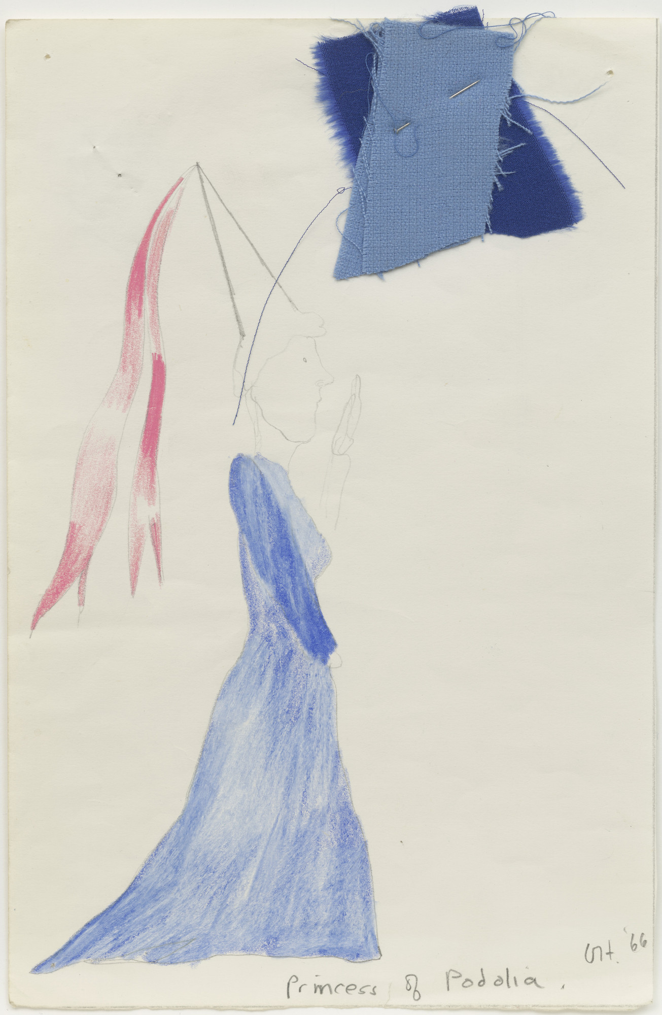 David Hockney. Princess of Podolia. Costume design for the play Ubu Roi. 1966