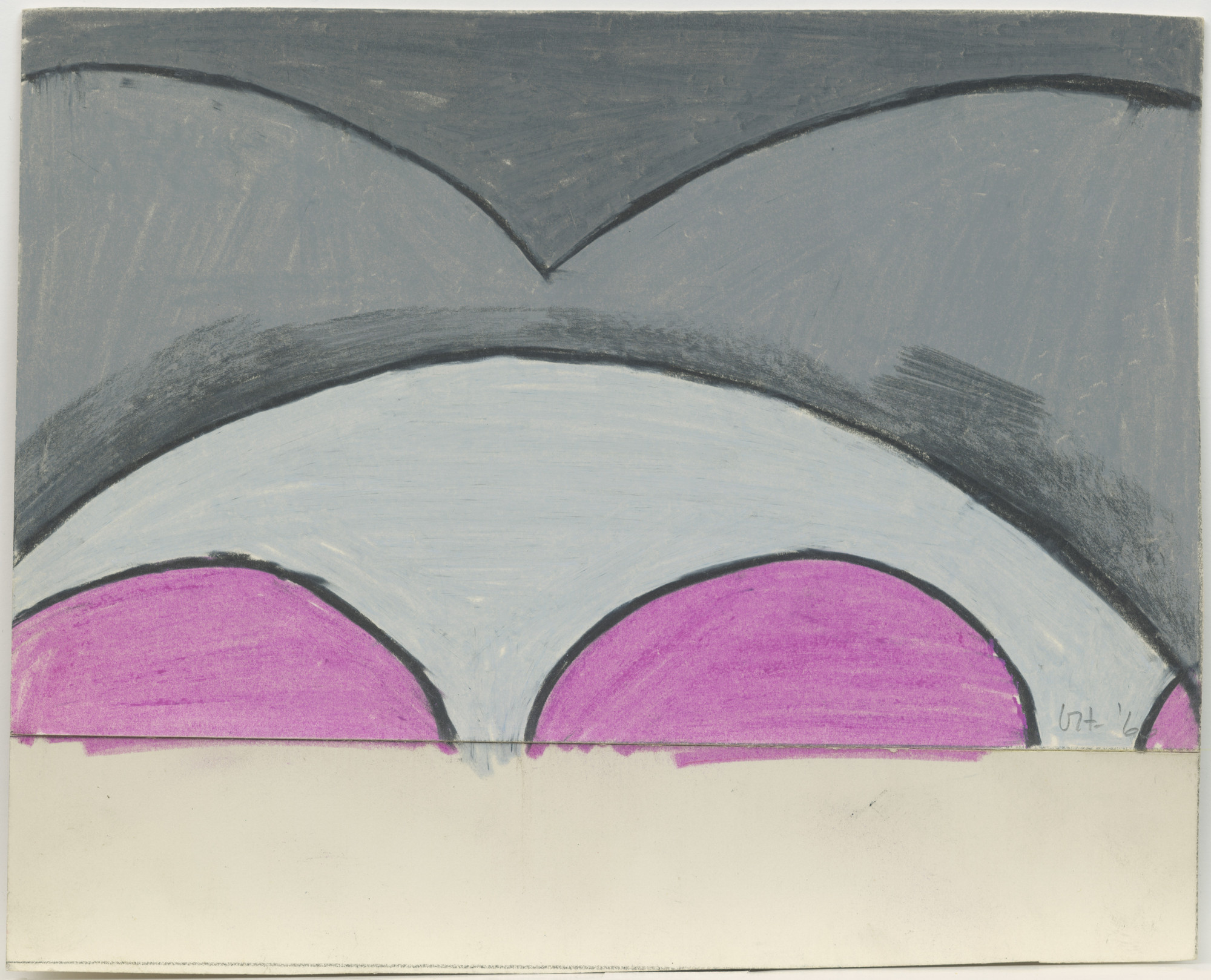 David Hockney. Untitled, design for Ubu Roi. (1966)