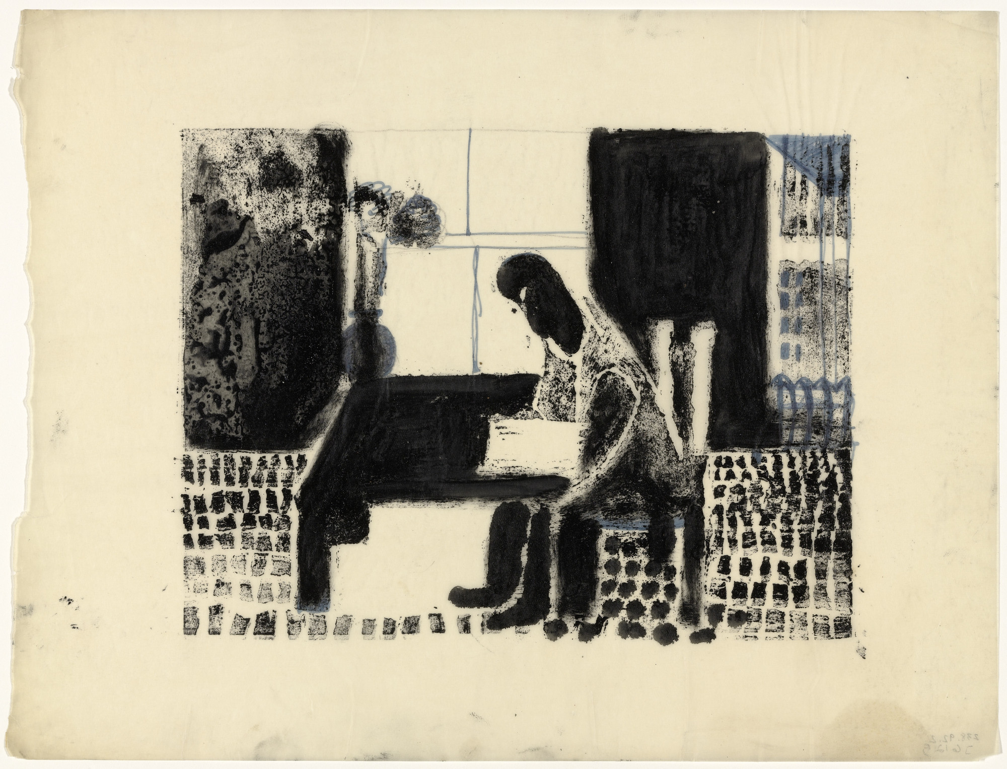 Louise Bourgeois. Man Reading. 1940-1944