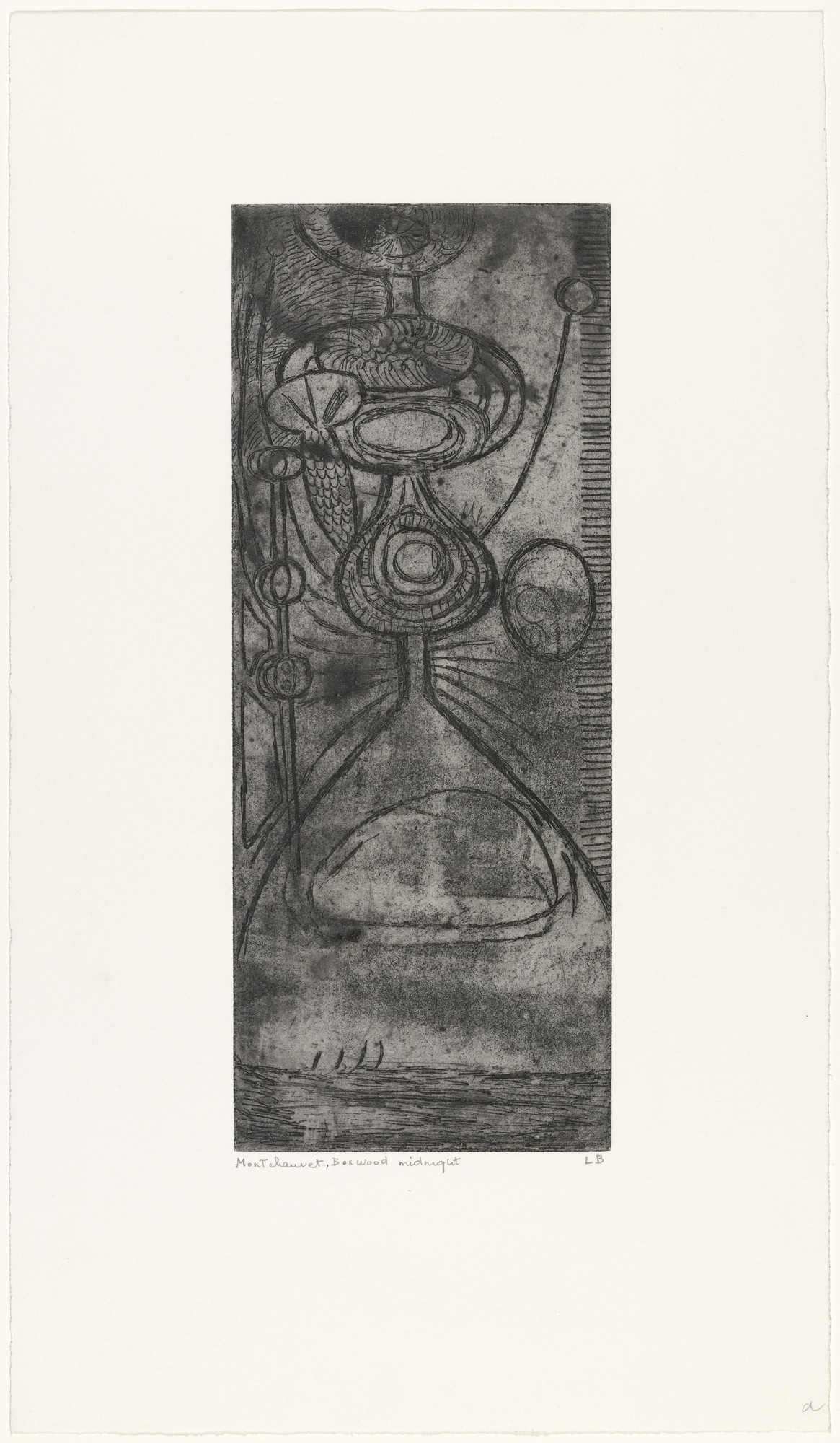 Louise Bourgeois. Boxwood Midnight. c. 1945, reprinted 1990