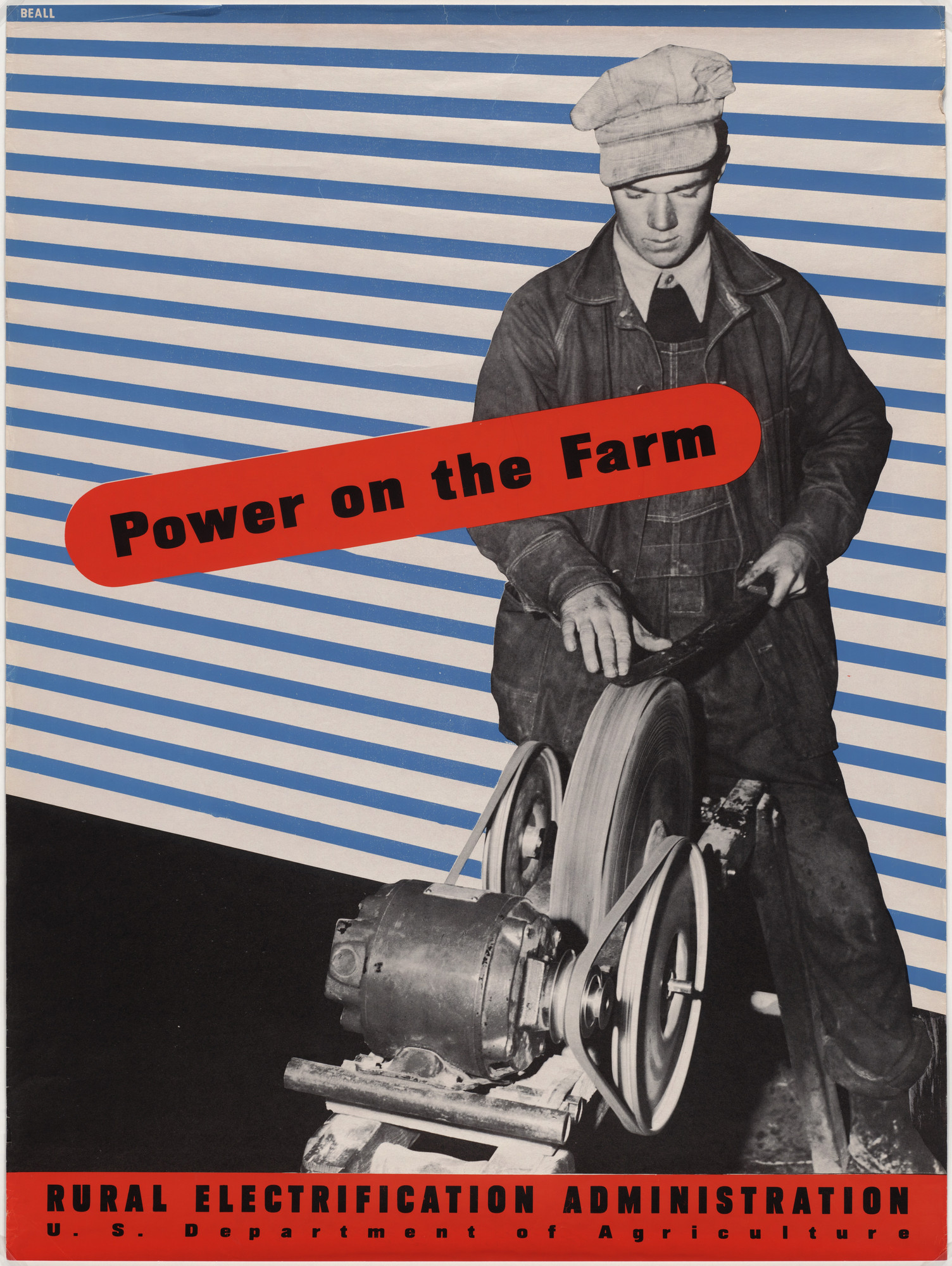 Lester Beall. Power on the Farm, Rural Electrification Administration. 1941