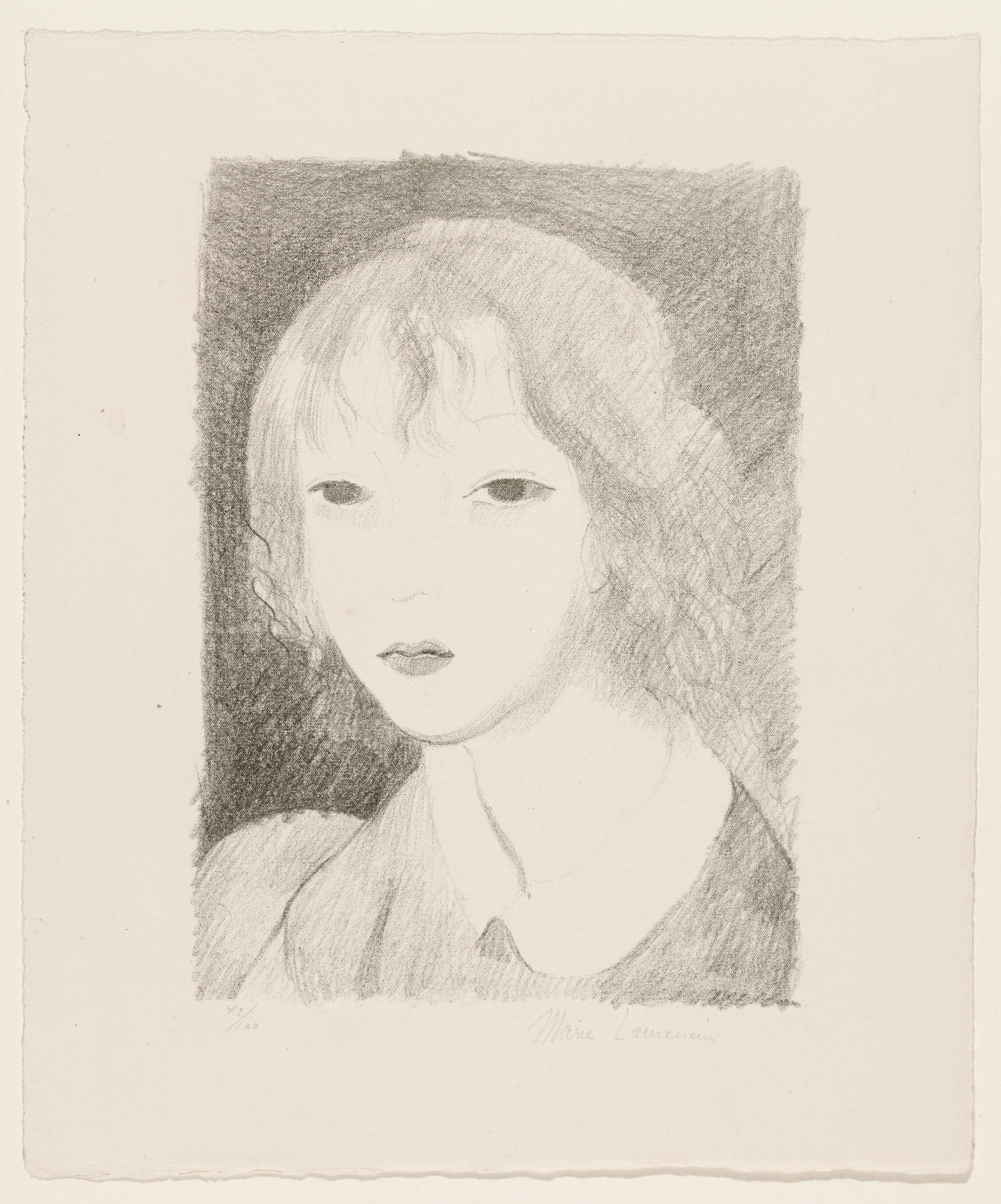 Marie Laurencin. Head of a Girl, Full Face (Tête de jeune fille, de face). 1925