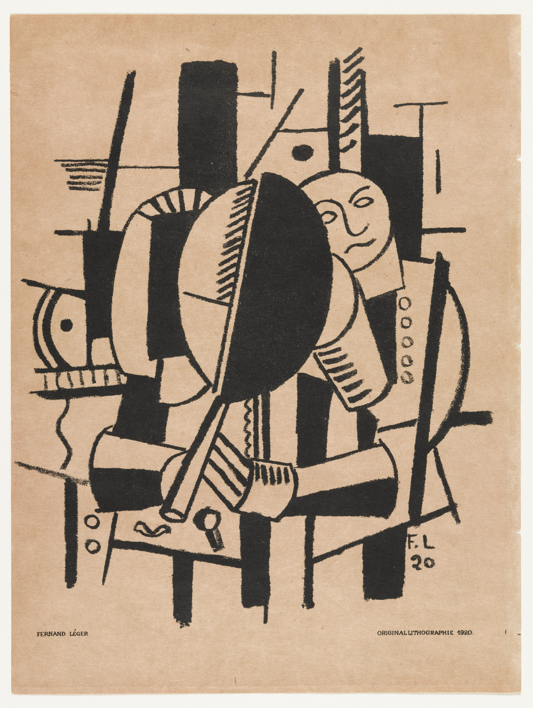 Fernand Léger. Woman at the Mirror from Das Kunstblatt, IV annual. 1920