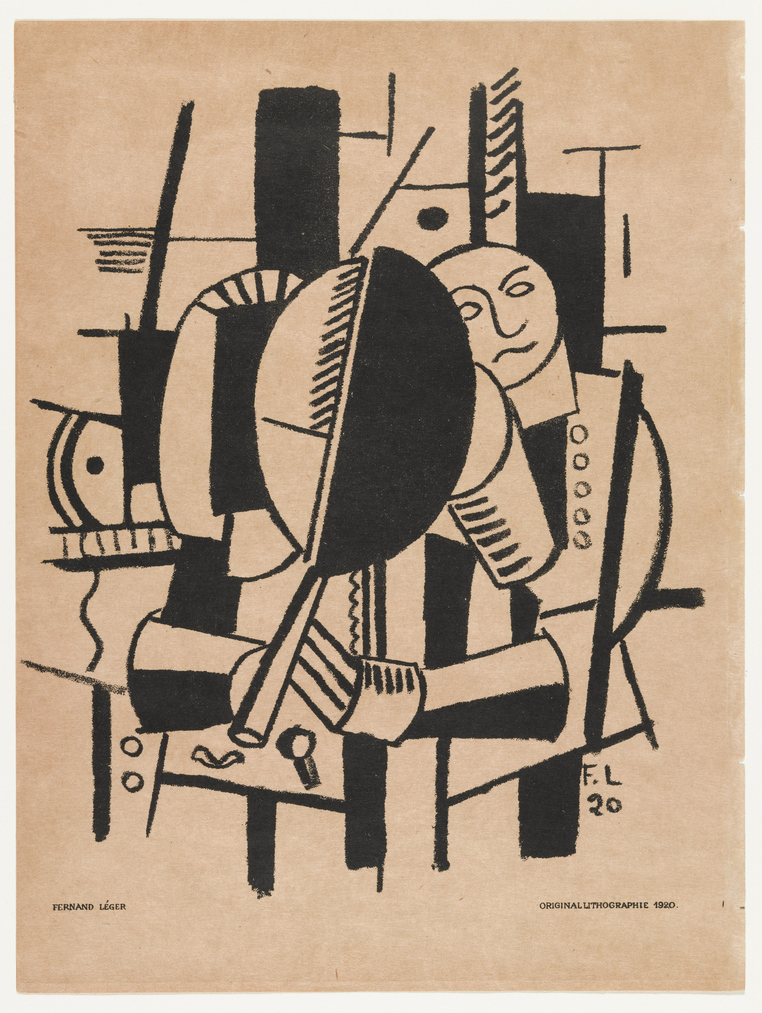 Fernand Léger. Woman at the Mirror from Das Kunstblatt, IV annual. (1920)